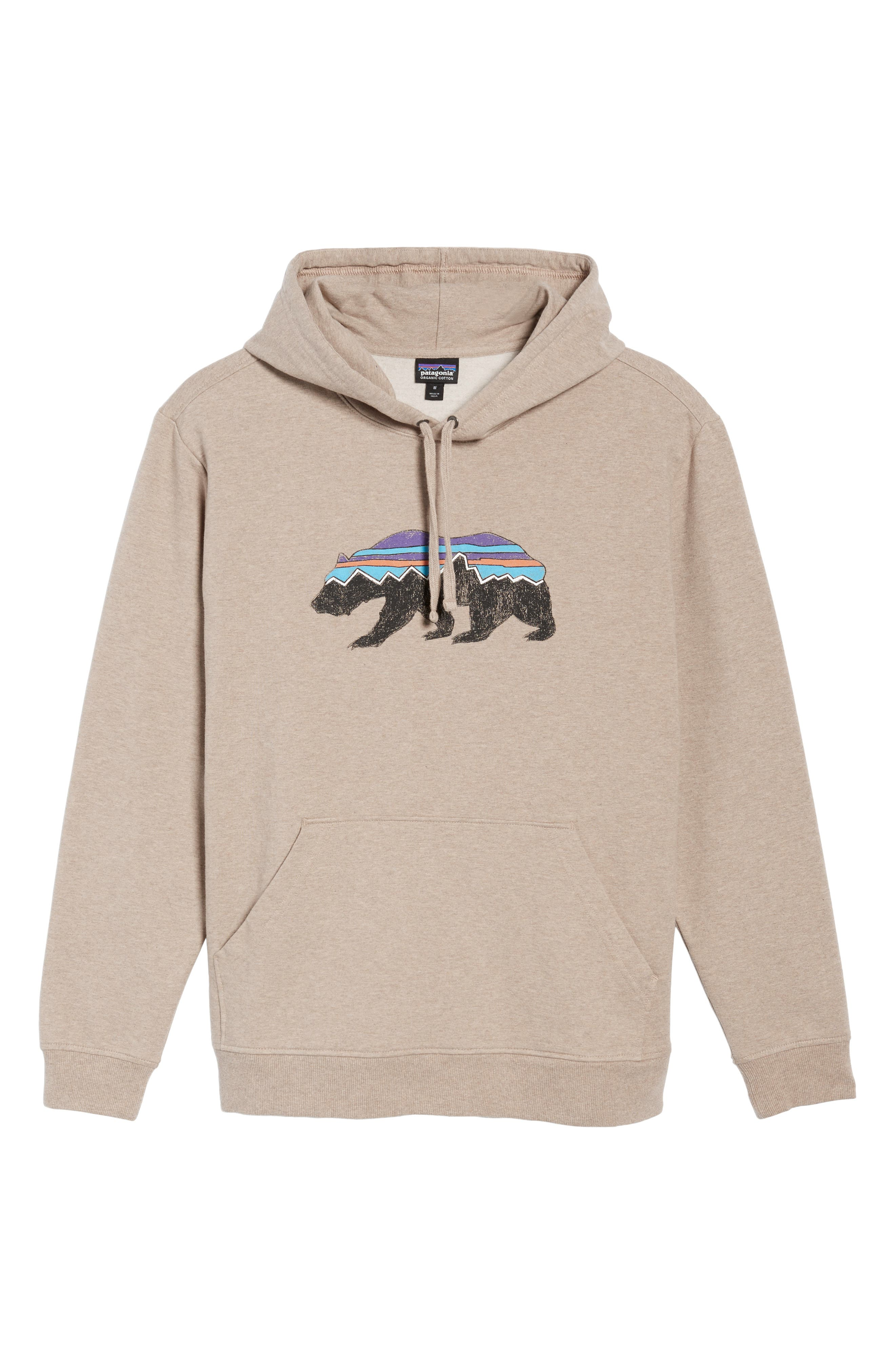 Fitz Roy Bear Graphic Hoodie,                             Alternate thumbnail 6, color,                             El Cap Khaki