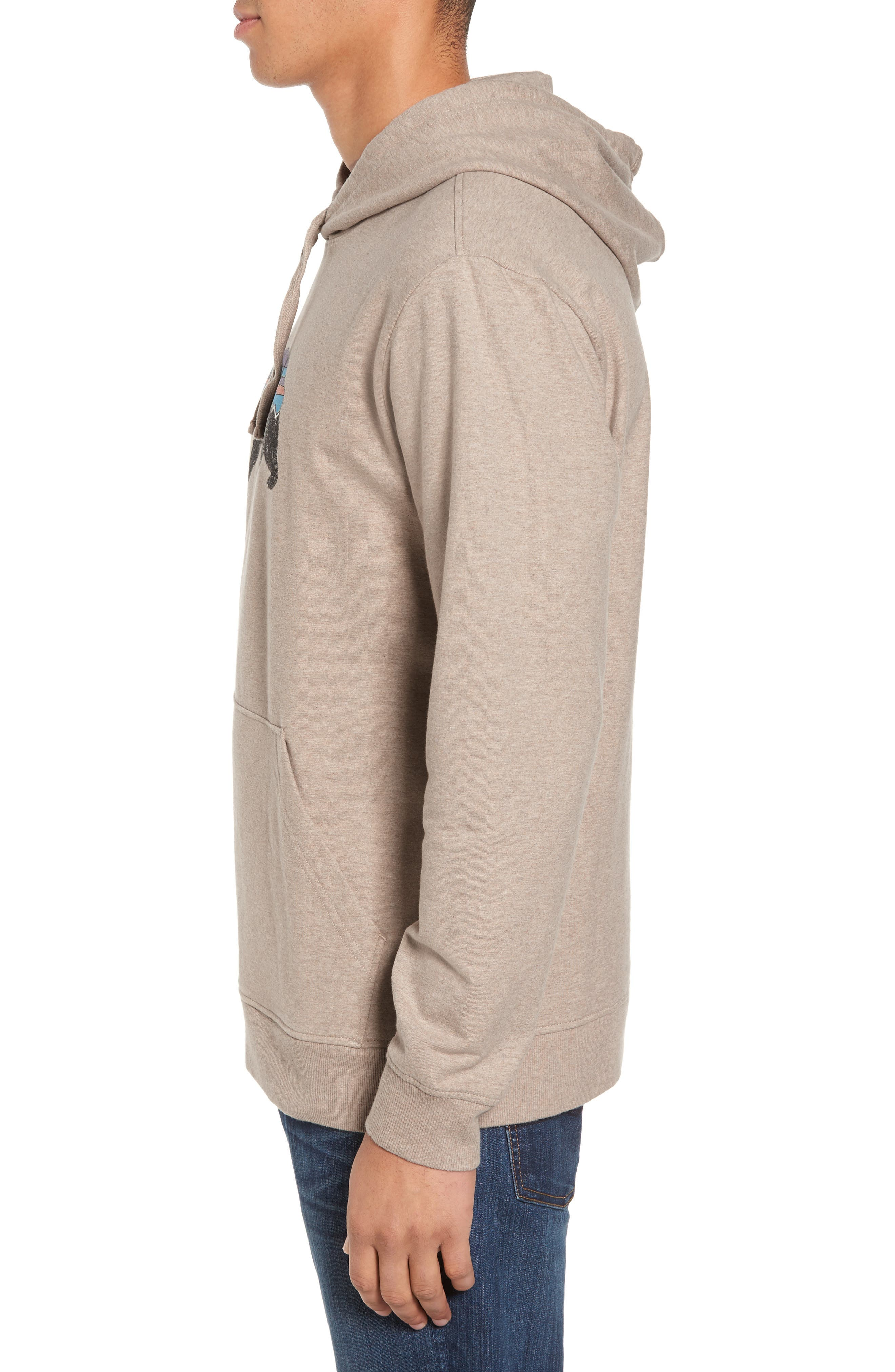 Fitz Roy Bear Graphic Hoodie,                             Alternate thumbnail 3, color,                             El Cap Khaki