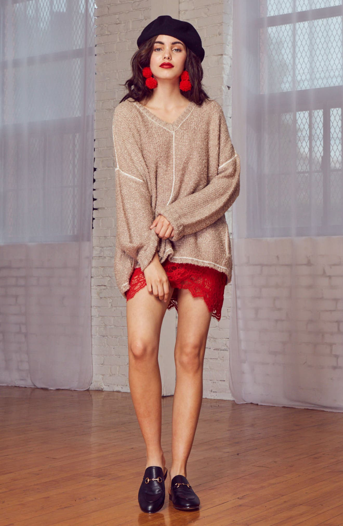 Voyage Knit Sweater,                             Alternate thumbnail 7, color,                             Mocha