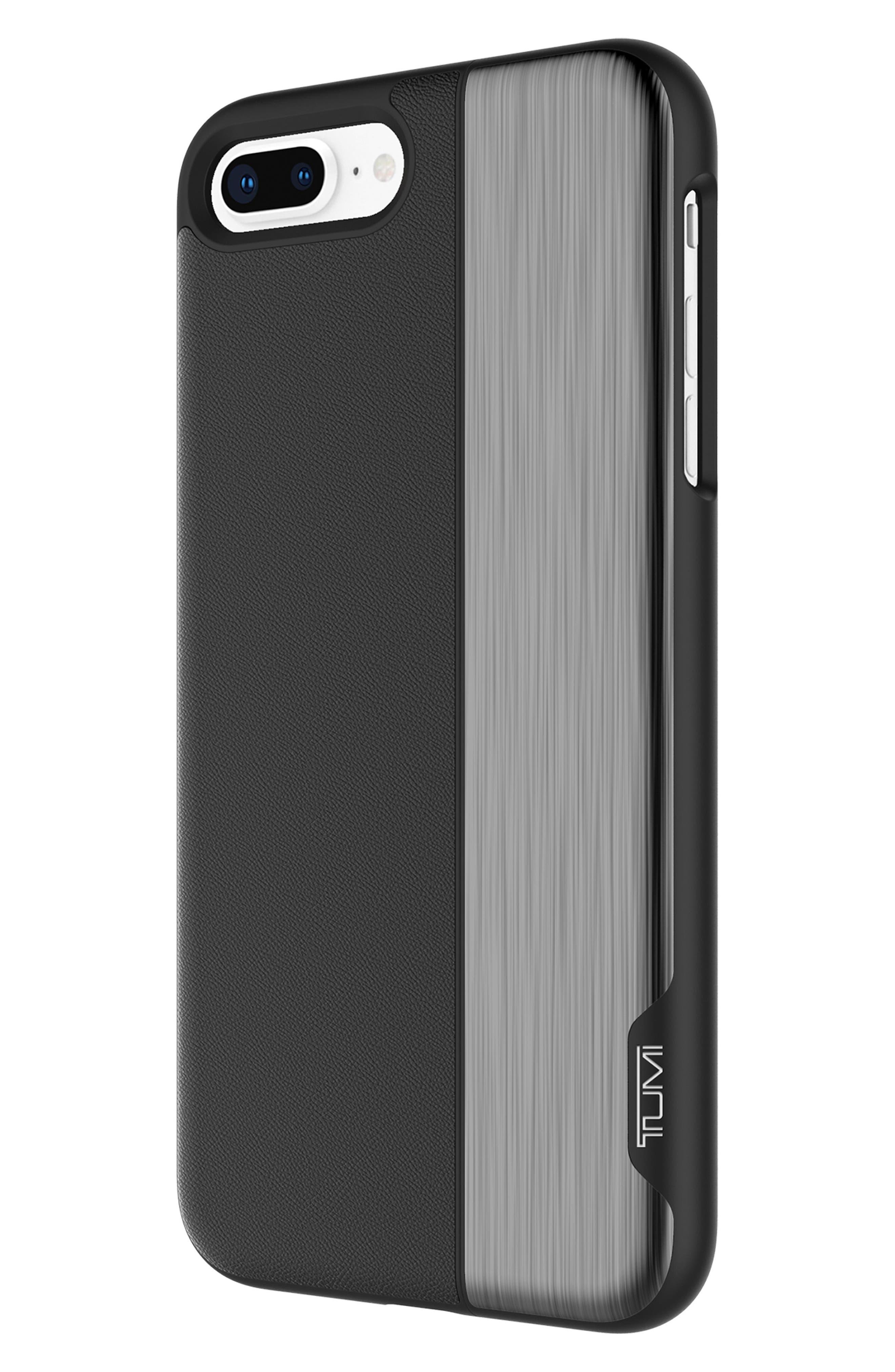 Slider iPhone 8 Plus Case,                             Alternate thumbnail 2, color,                             Black Gunmetal
