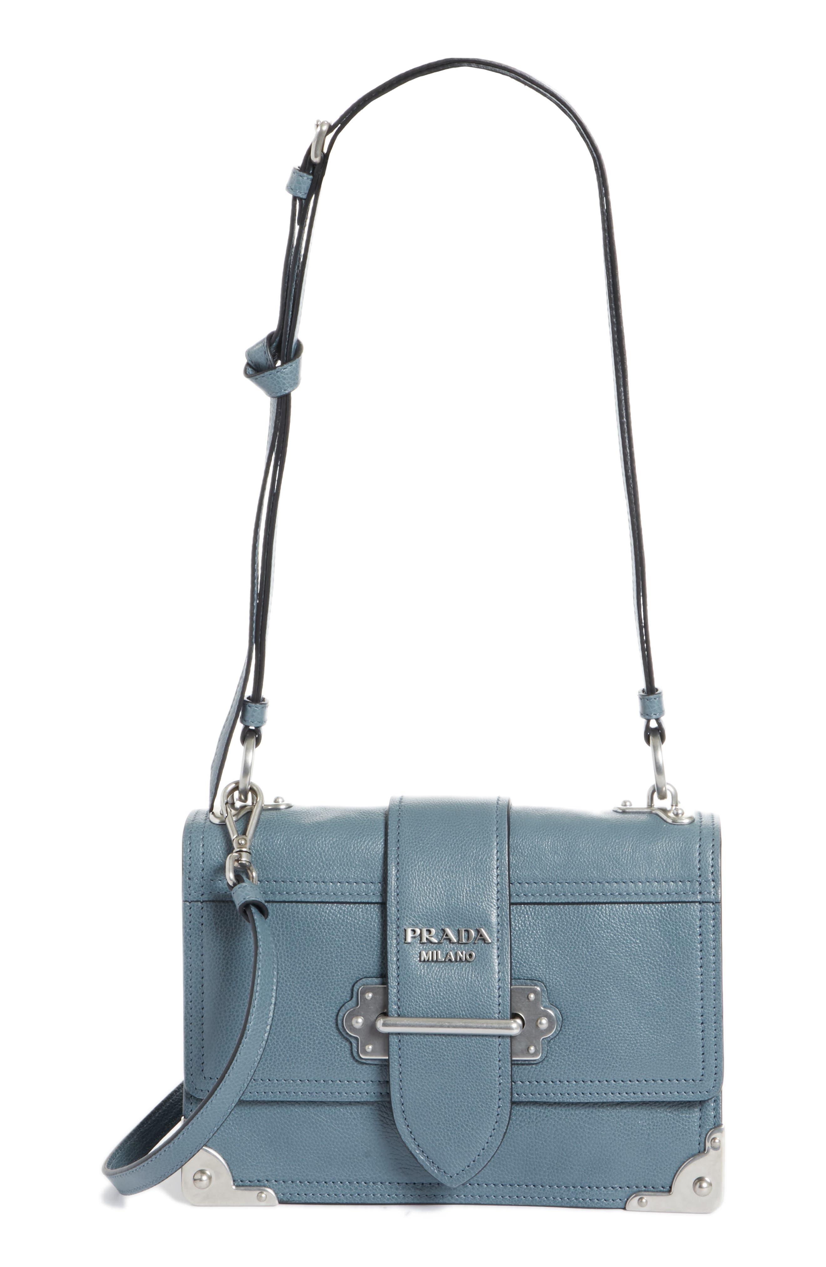 Prada Cahier Glace Calfskin Convertible Shoulder Bag
