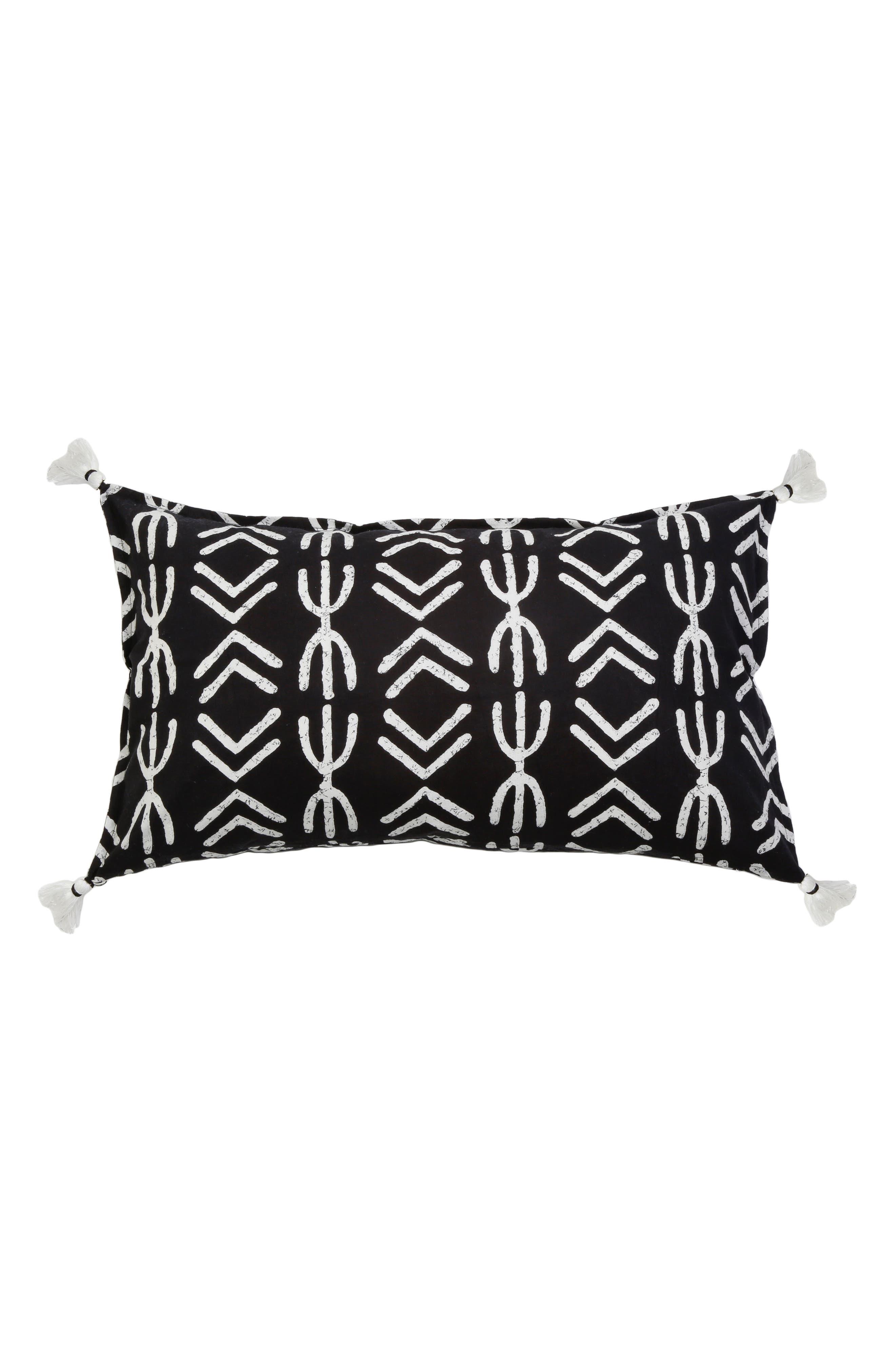 Spear Accent Pillow,                         Main,                         color, Black Multi