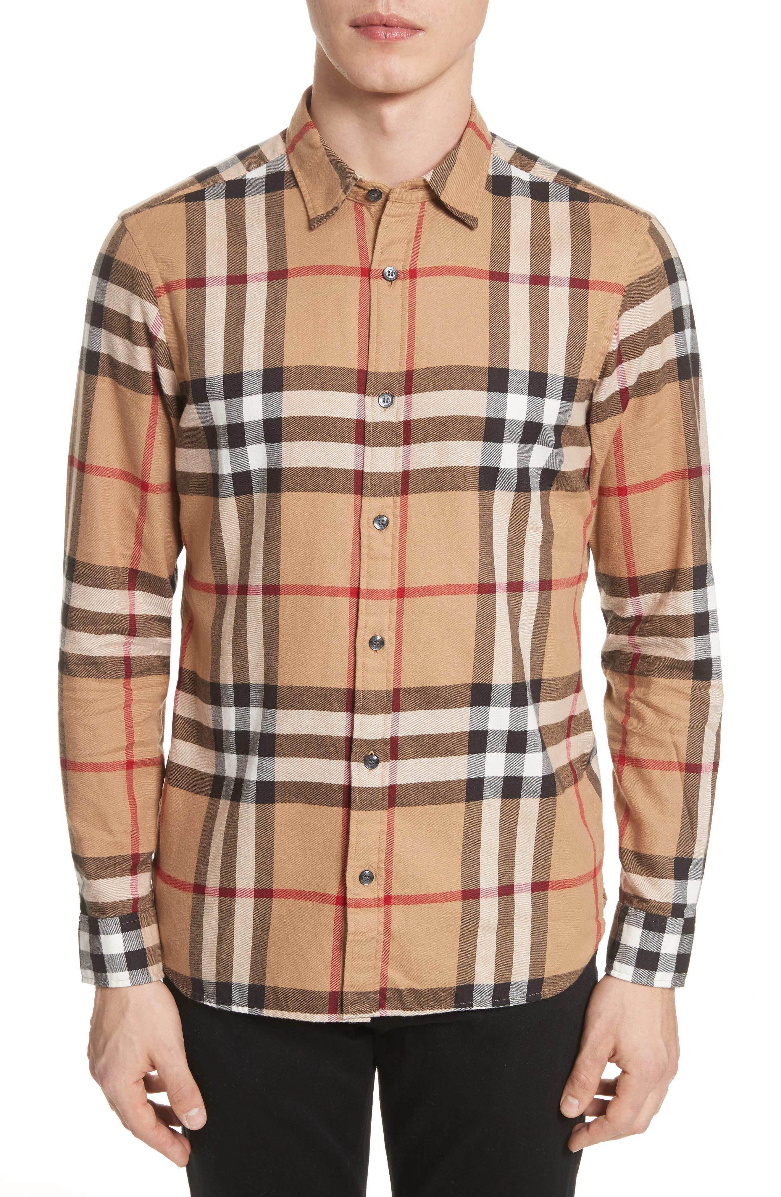 Main Image - Burberry Salwick Regular Fit Sport Shirt
