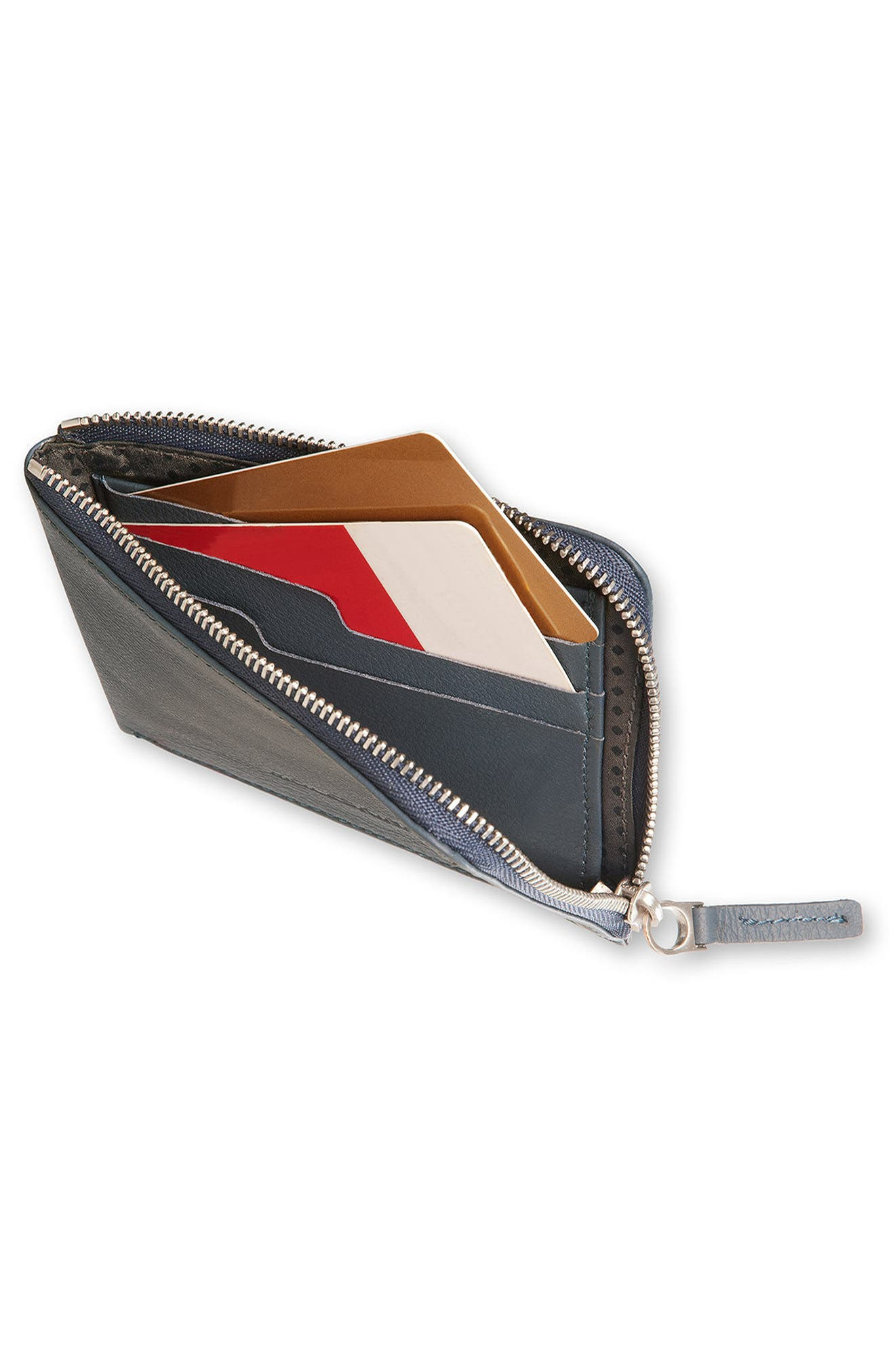 Alternate Image 2  - Moleskine Lineage Leather Zip Wallet