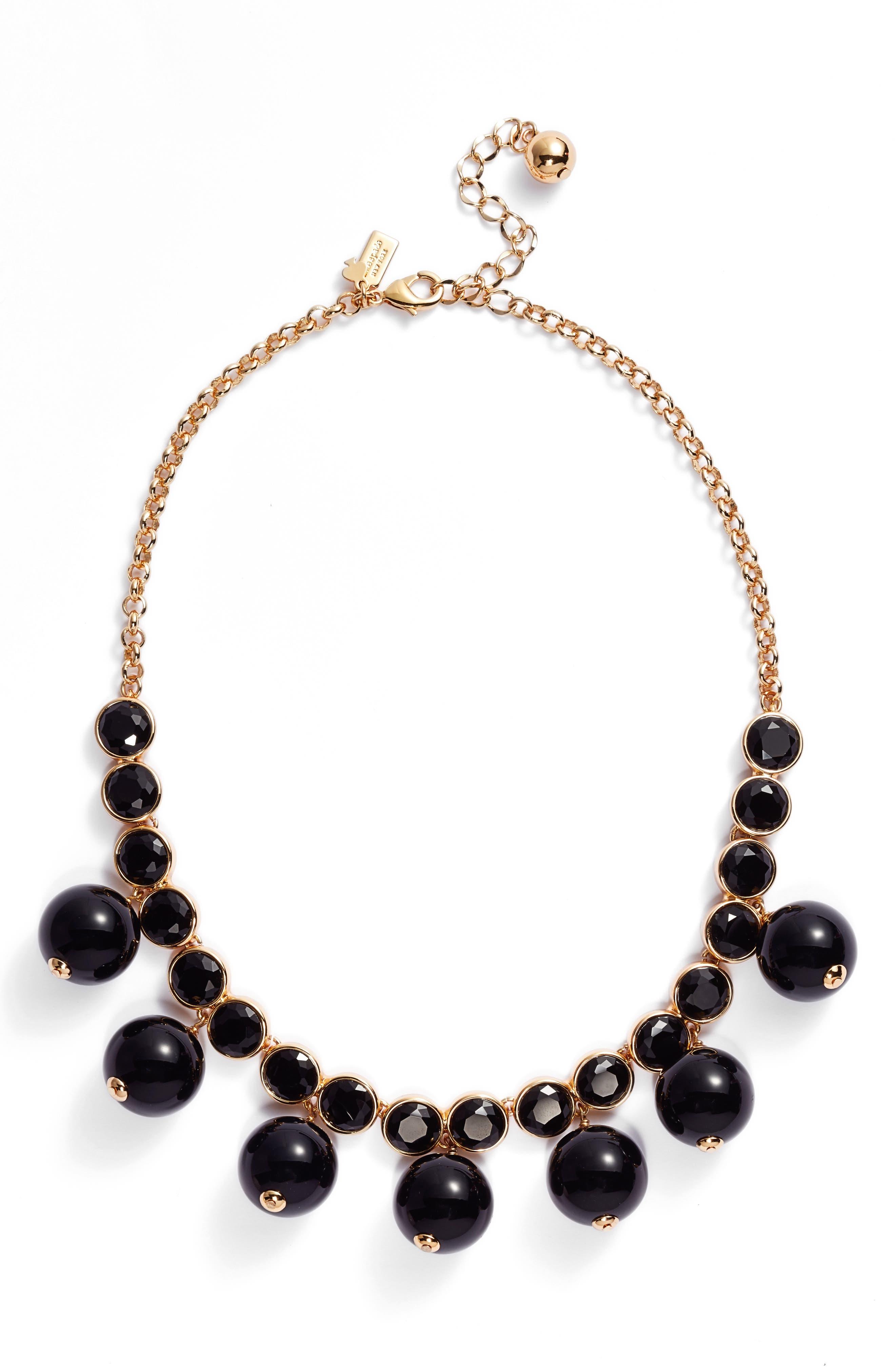true colors bauble necklace,                             Main thumbnail 1, color,                             Jet Multi