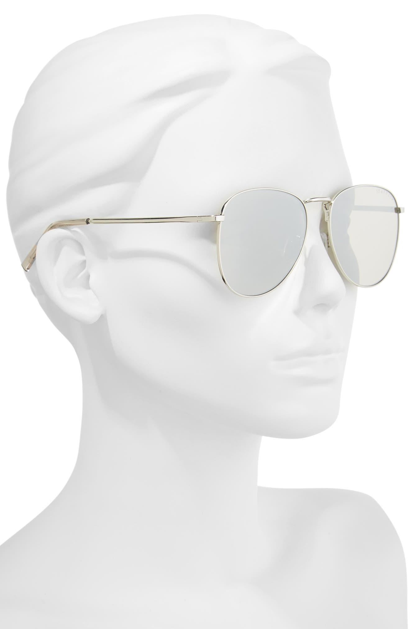 Clovelly 56mm Metal Sunglasses,                             Alternate thumbnail 2, color,                             Sand