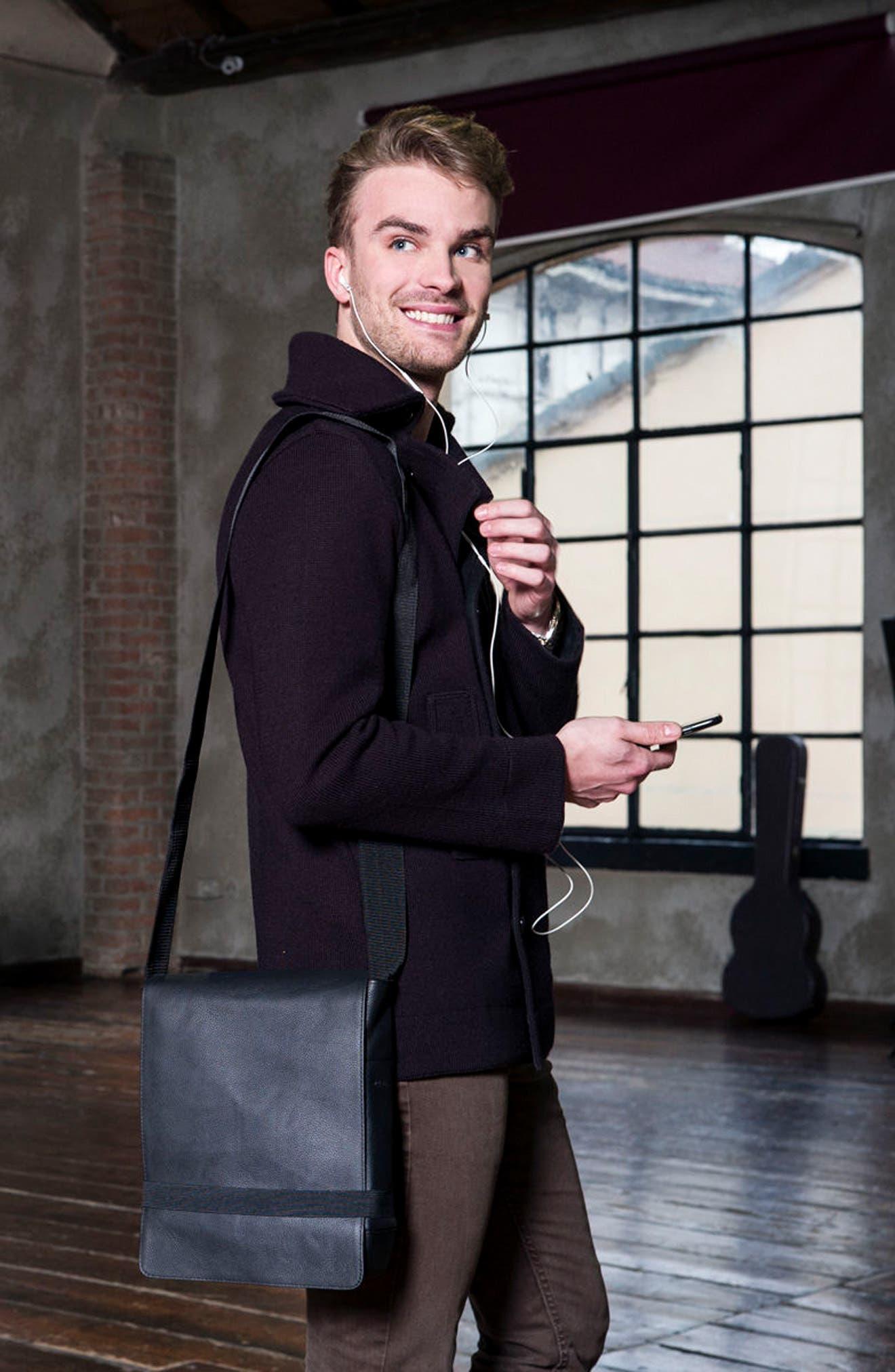 Alternate Image 5  - Moleskine Leather Reporter Bag