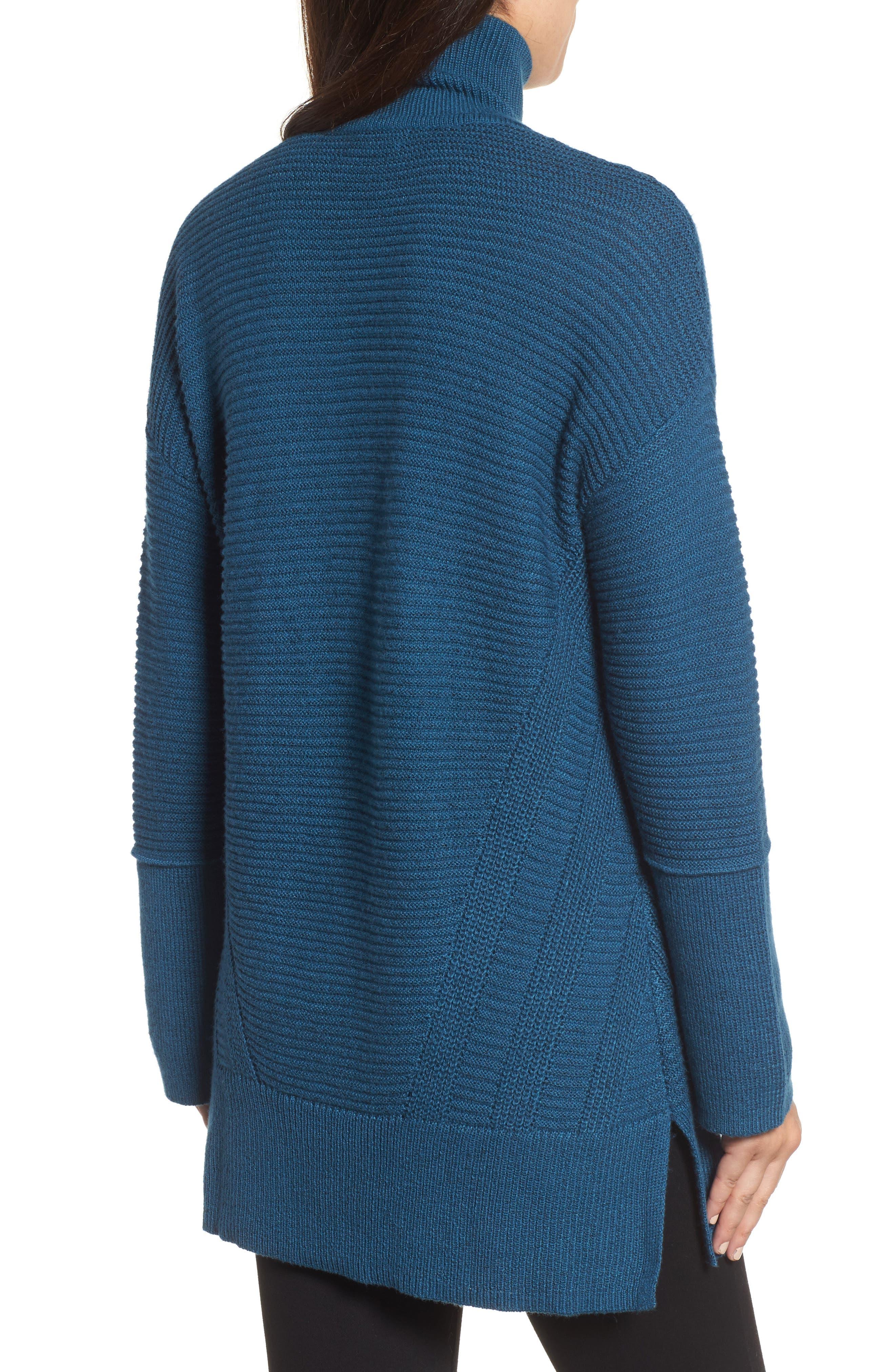 Alternate Image 2  - Caslon® Ribbed Turtleneck Tunic Sweater