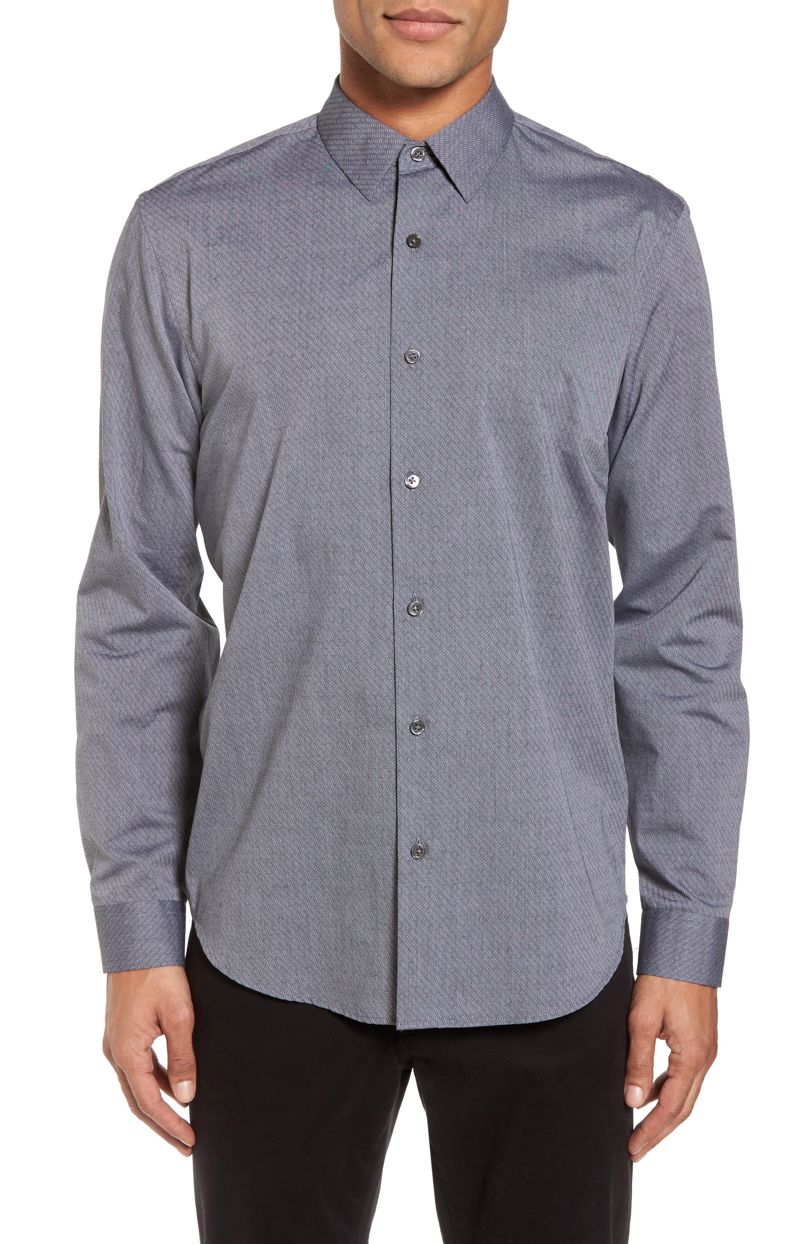 Alternate Image 1 Selected - Theory Storm Trim Fit Solid Sport Shirt