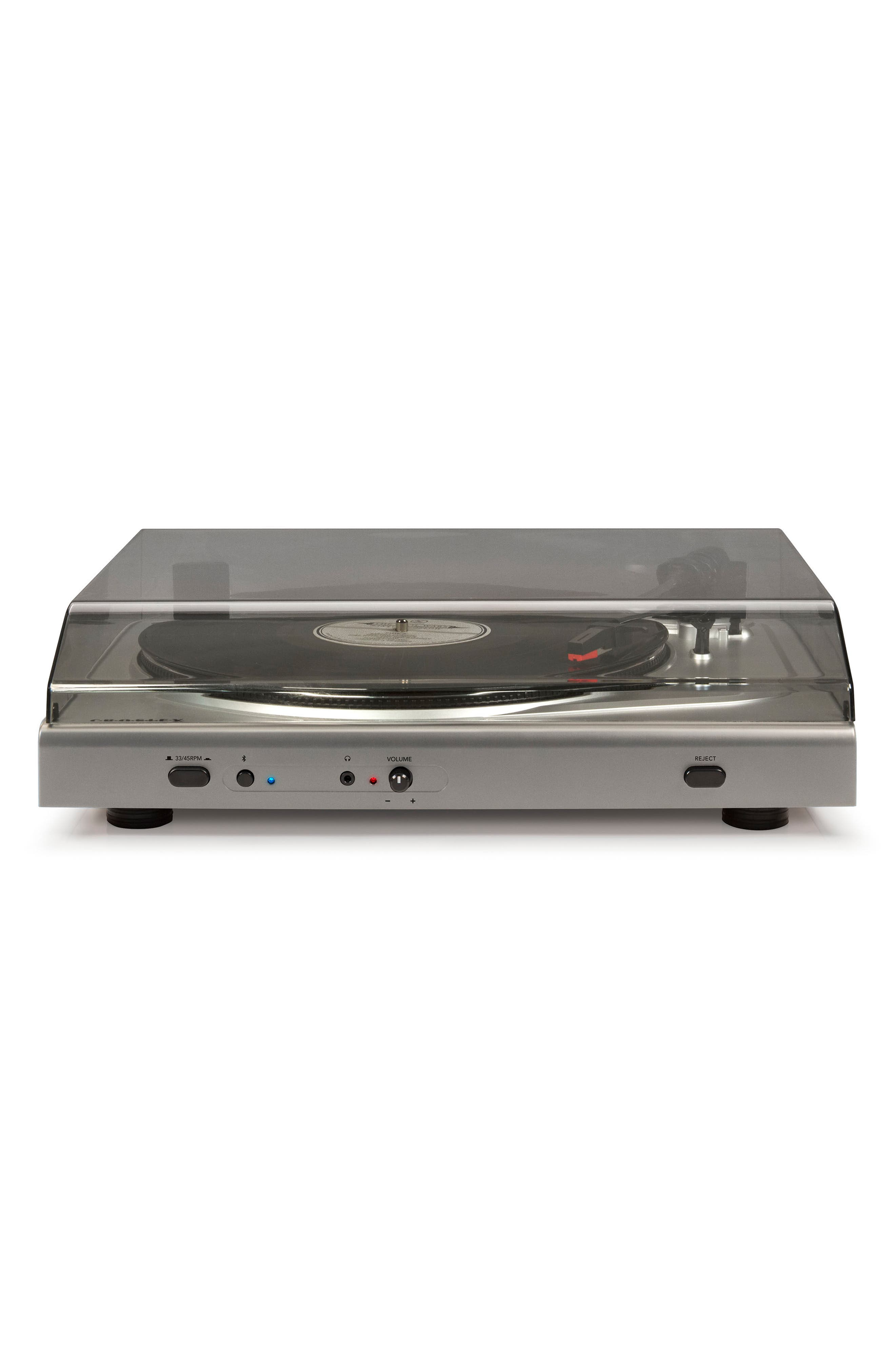T300A Bluetooth Turntable,                             Alternate thumbnail 4, color,                             Silver