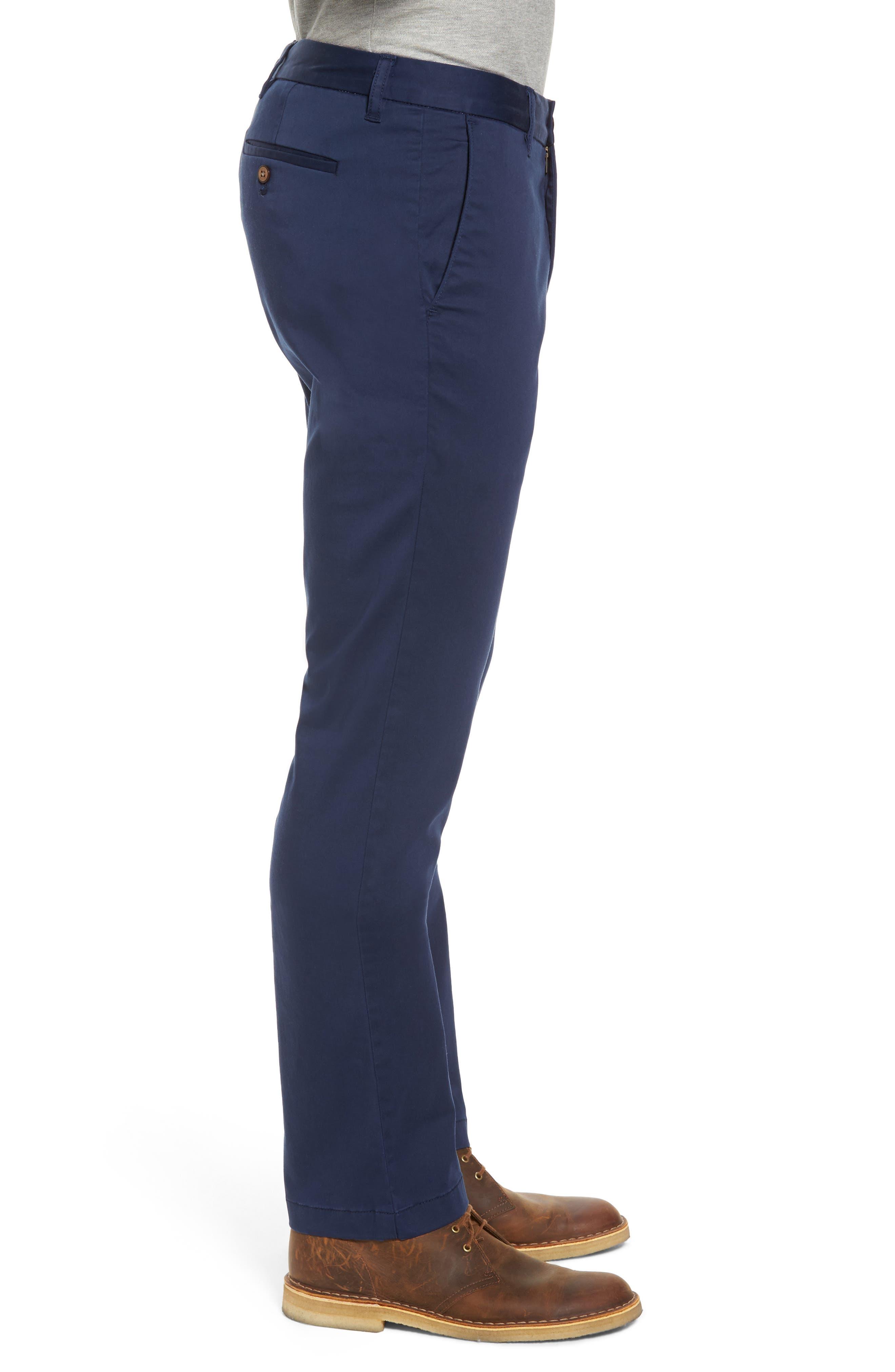Boracay Flat Front Pants,                             Alternate thumbnail 3, color,                             Maritime