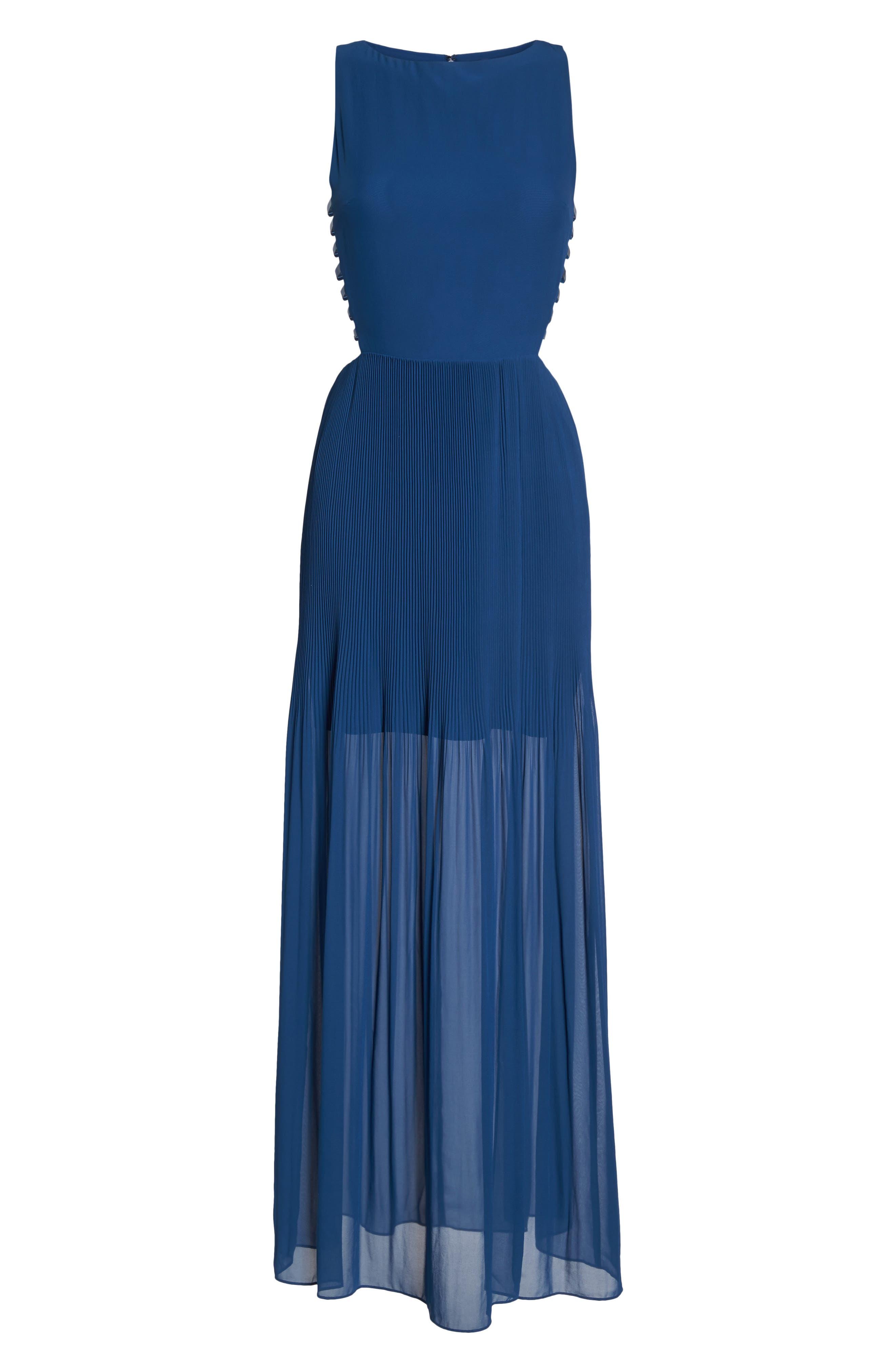 Sunset Blvd Maxi Dress,                             Alternate thumbnail 7, color,                             French Blue
