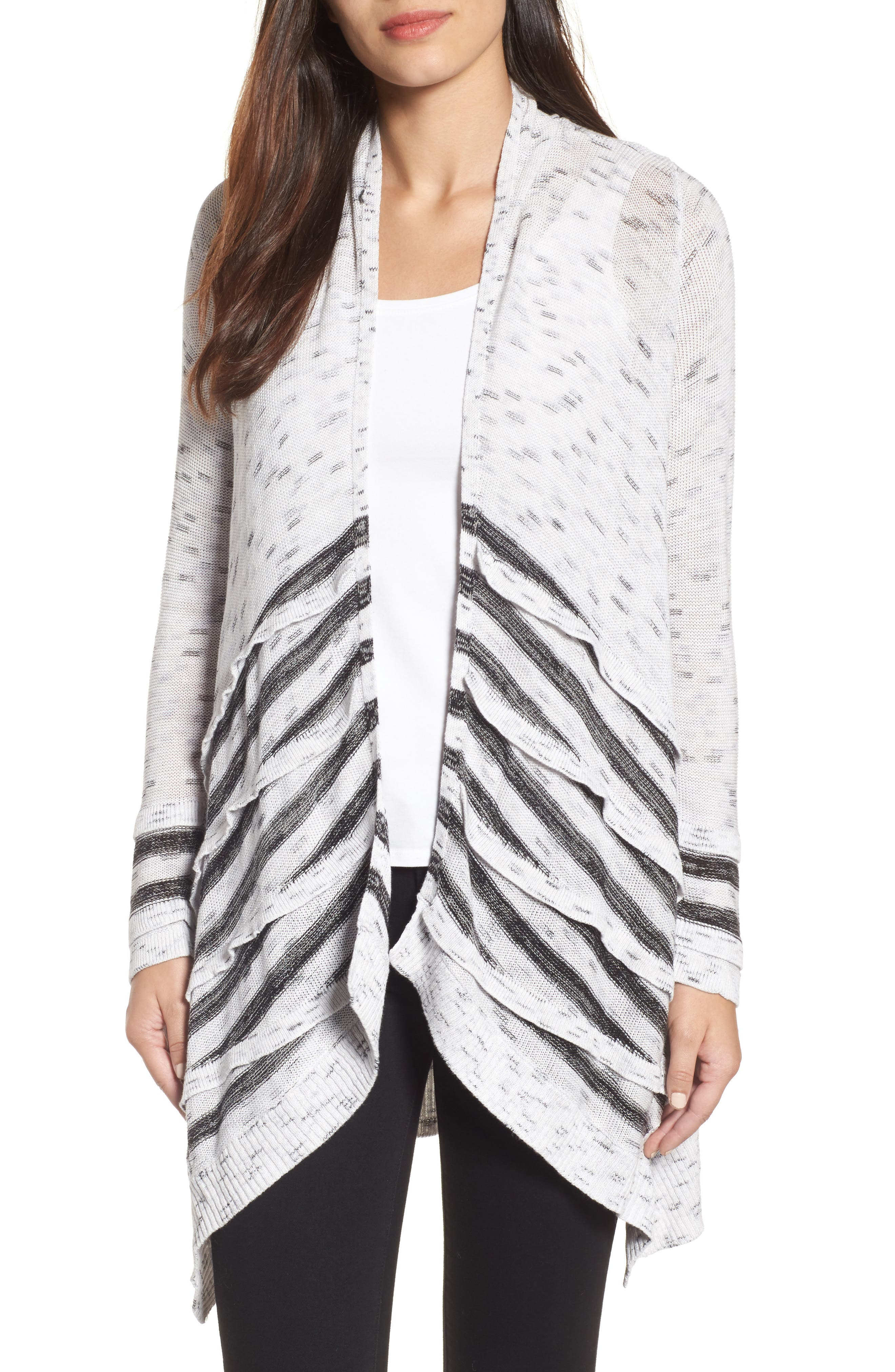 NIC+ZOE Dash Tiered Front Cardigan