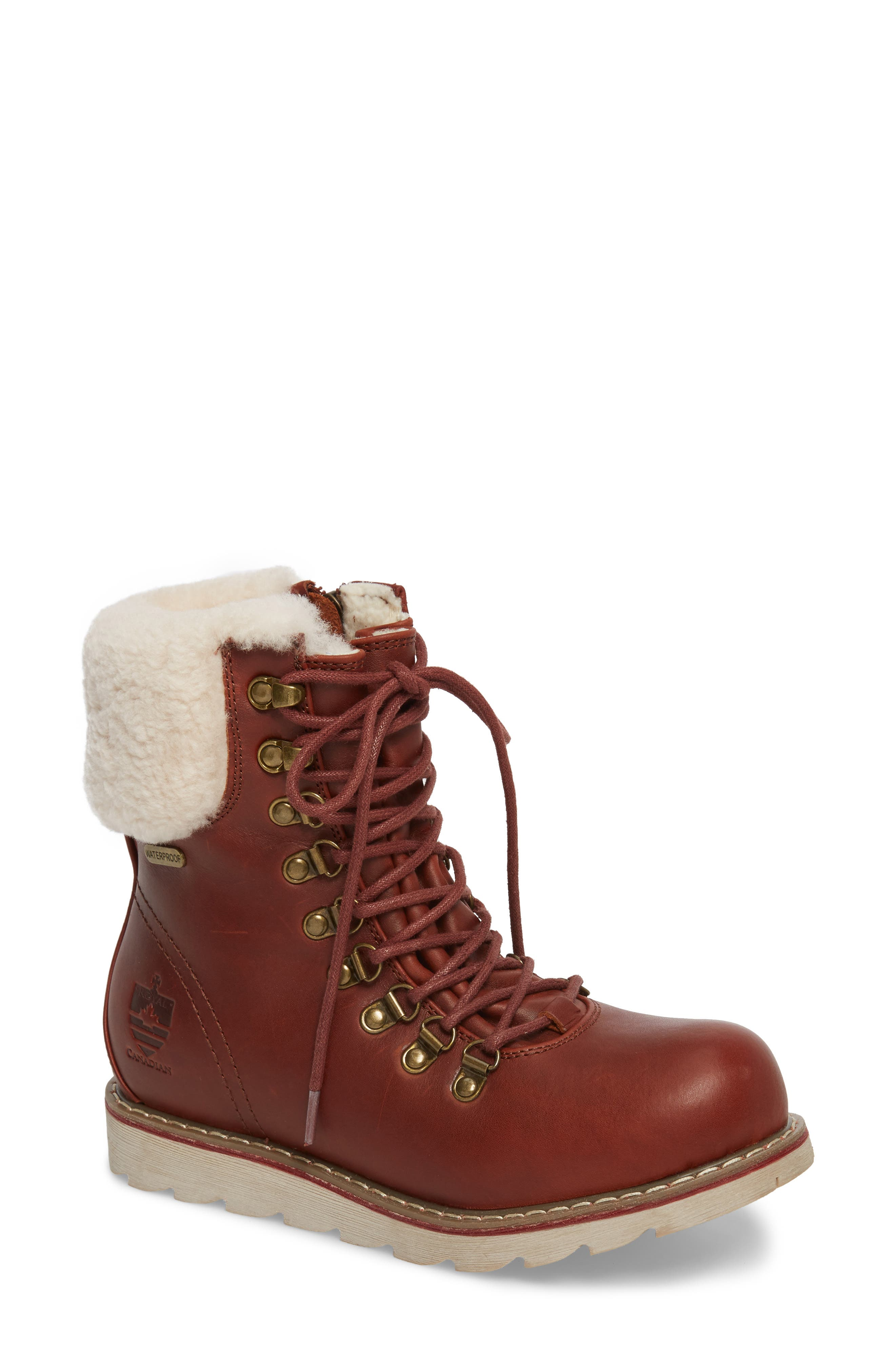 Royal Canadian Lethbridge Waterproof Snow Boot with Genuine Shearling Cuff  (Women)