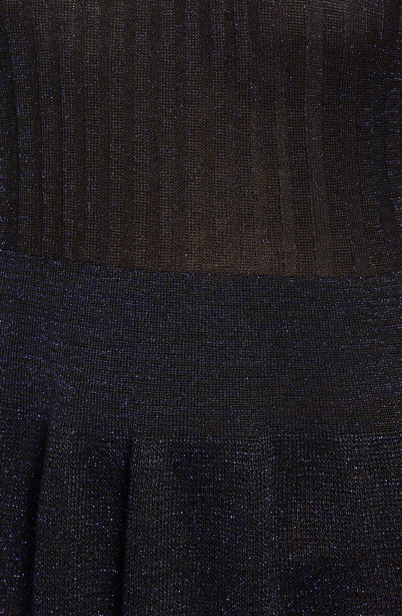 Rose & Shine Sweater Dress,                             Alternate thumbnail 5, color,                             Black Combo
