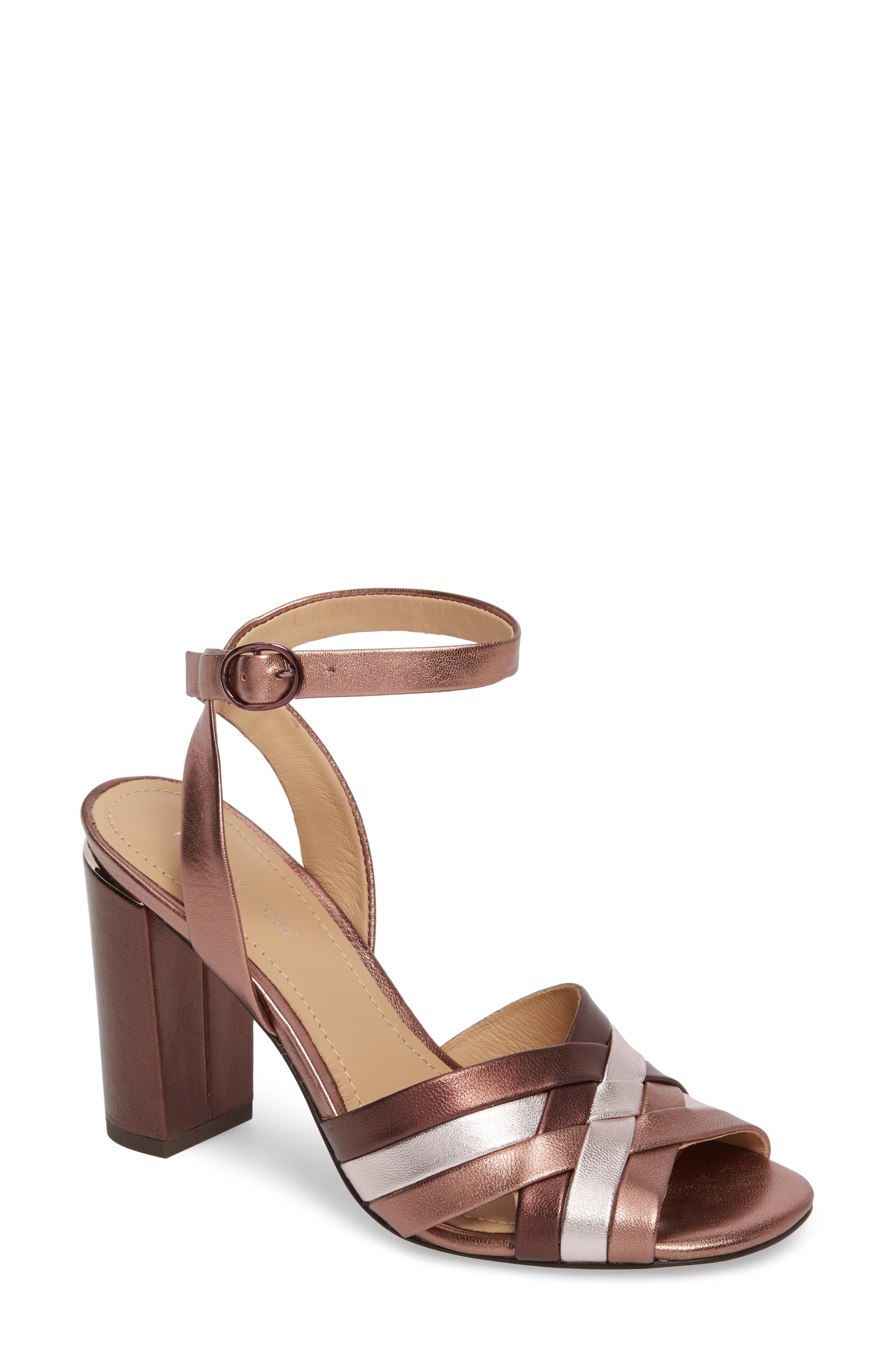 Hadley Sandal,                             Main thumbnail 1, color,                             Rose Leather