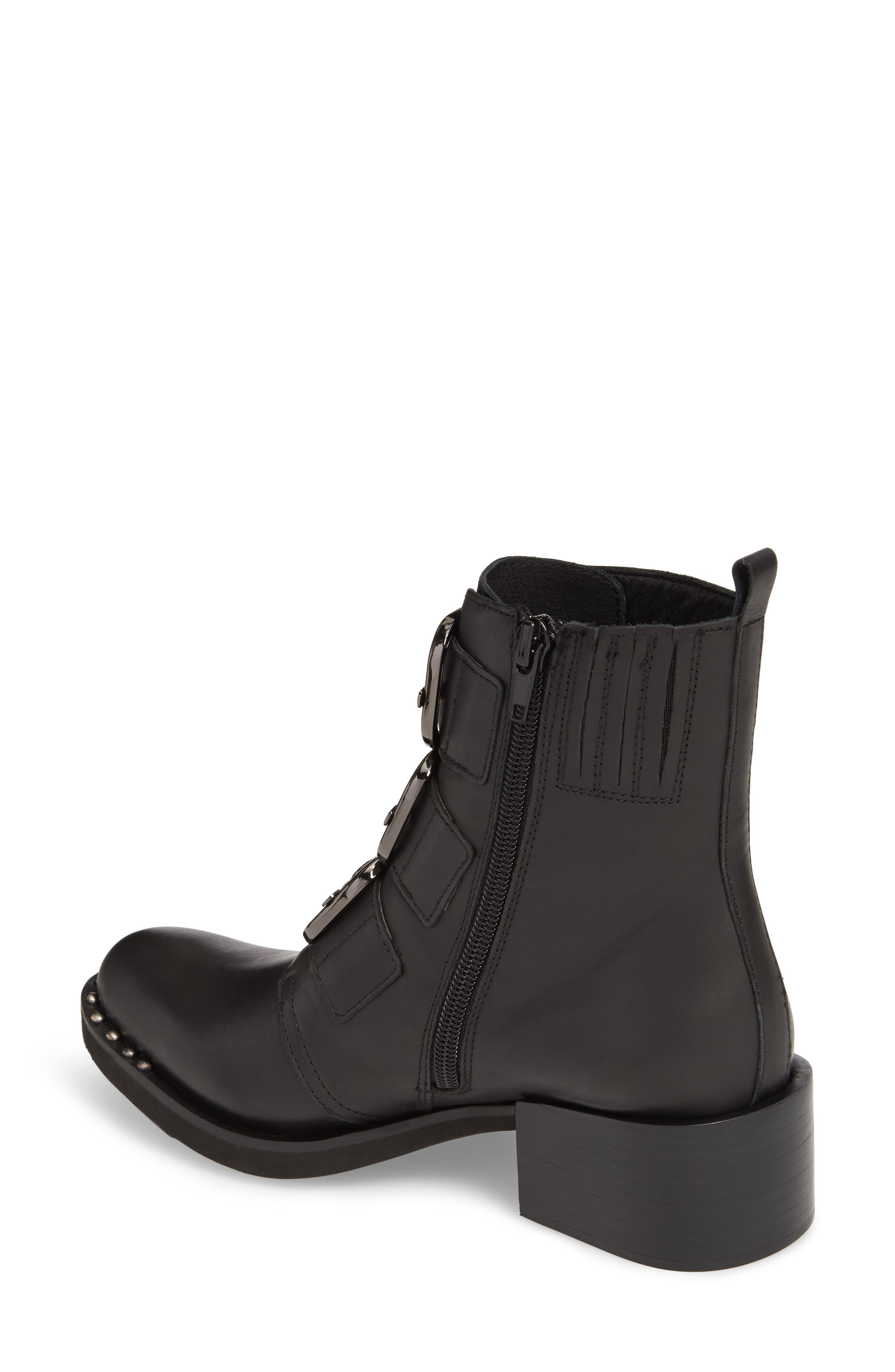 Todd Buckle Strap Bootie,                             Alternate thumbnail 2, color,                             Black