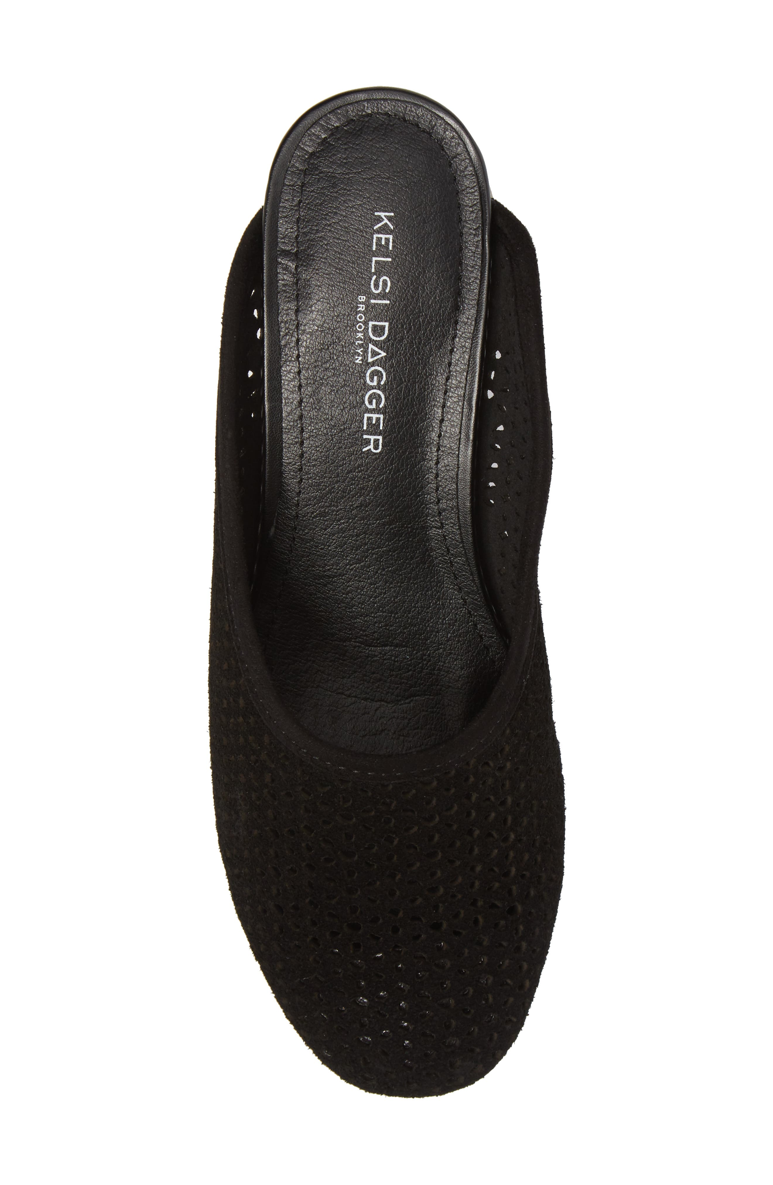 Lincoln Perforated Mule,                             Alternate thumbnail 5, color,                             Black