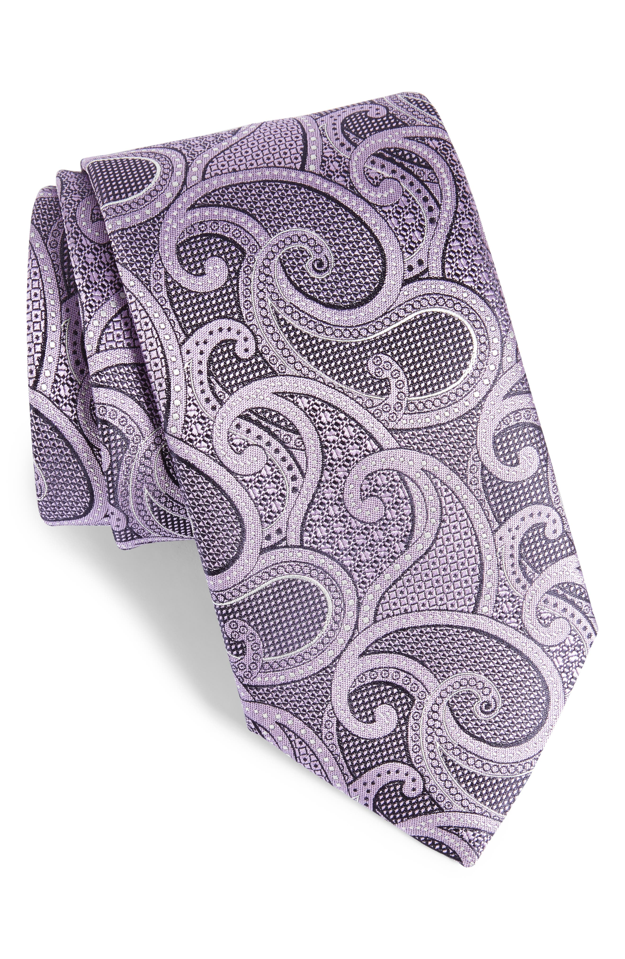 Alternate Image 1 Selected - Canali Paisley Silk Tie (X-Long)