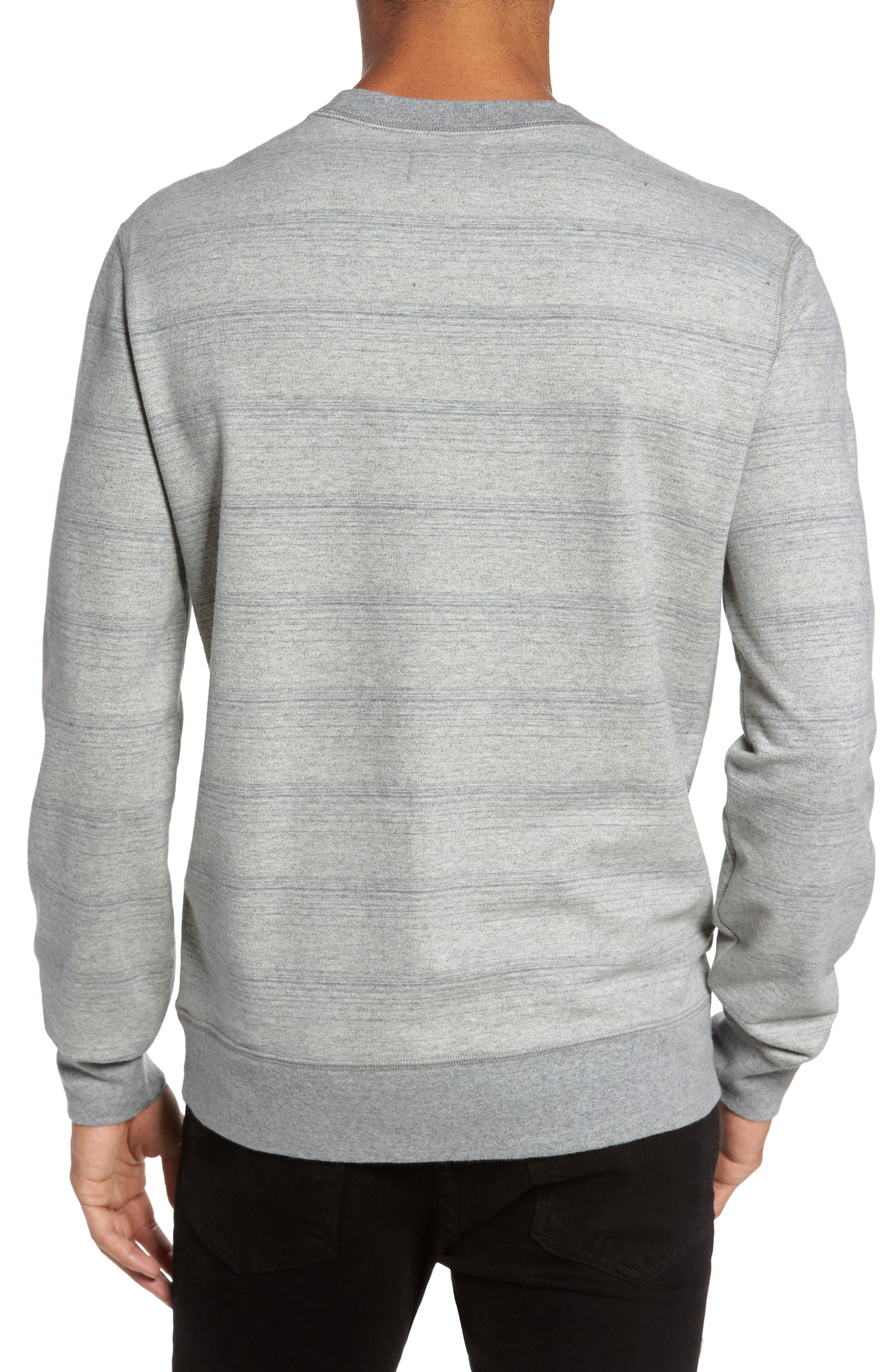 Striped Crewneck Sweater,                             Alternate thumbnail 2, color,                             Grey Mix