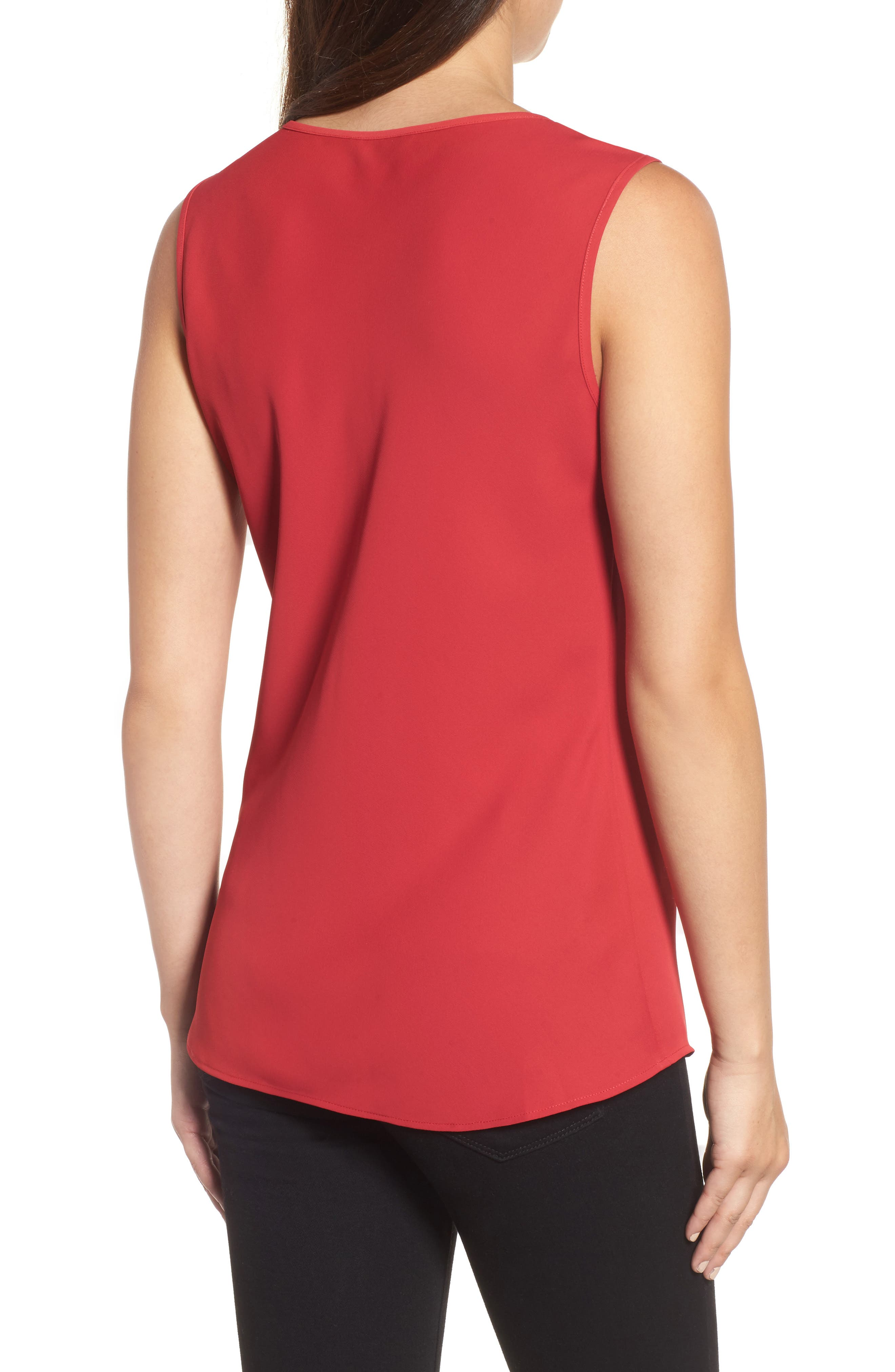 Keyhole Neck Top,                             Alternate thumbnail 2, color,                             True Red