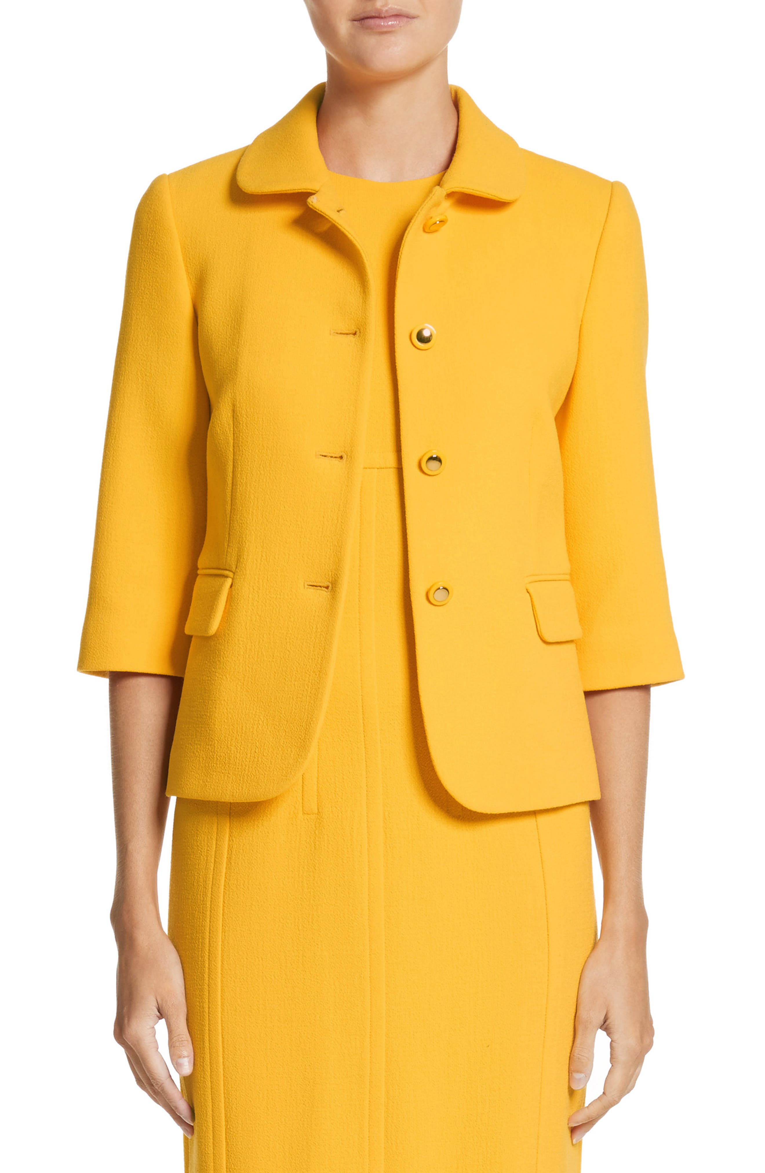 Michael Kors Stretch Bouclé Crepe Jacket