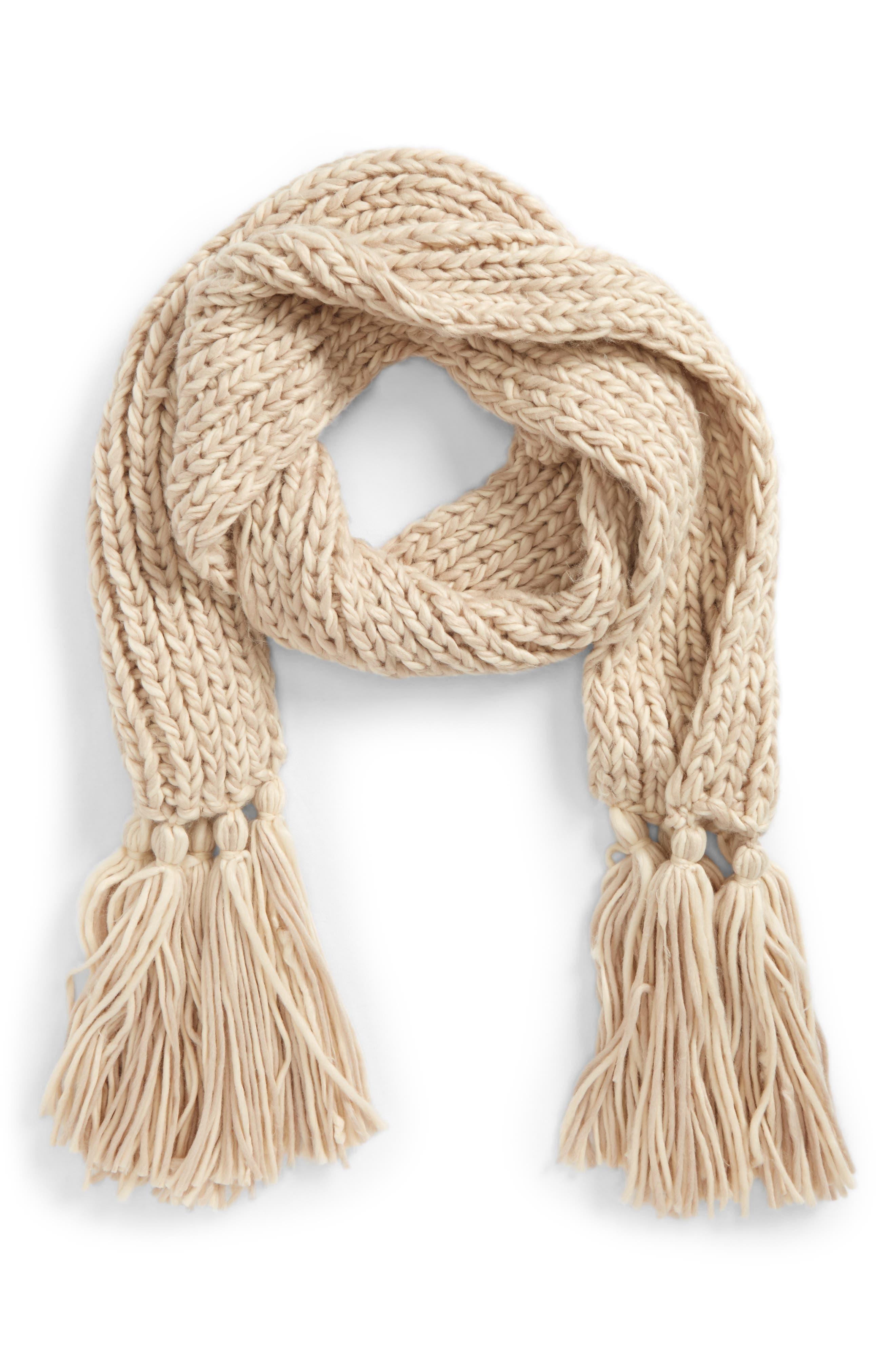 BP. Chunky Knit Fringe Scarf