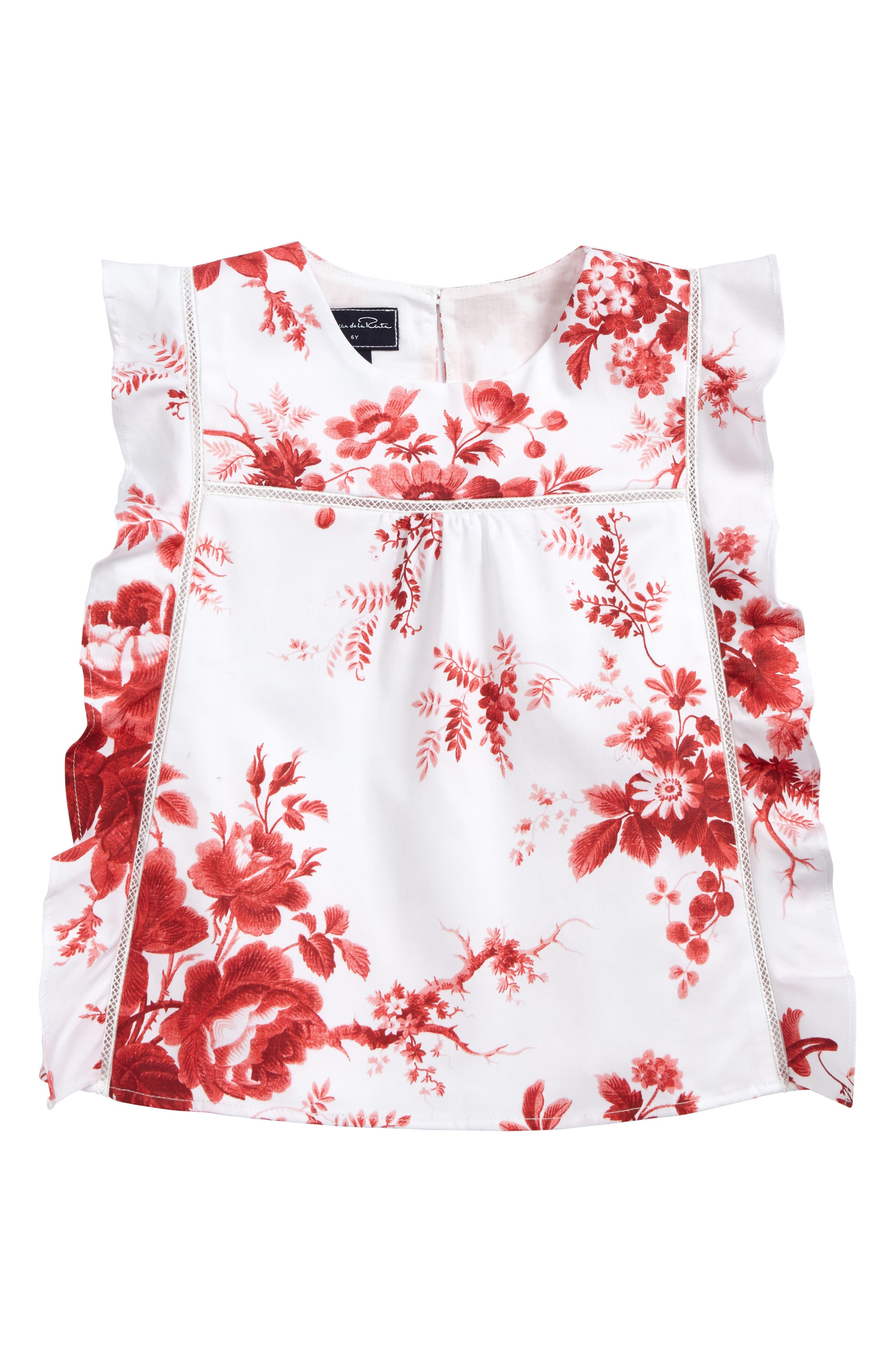 Floral Print Tunic,                         Main,                         color, Cardinal