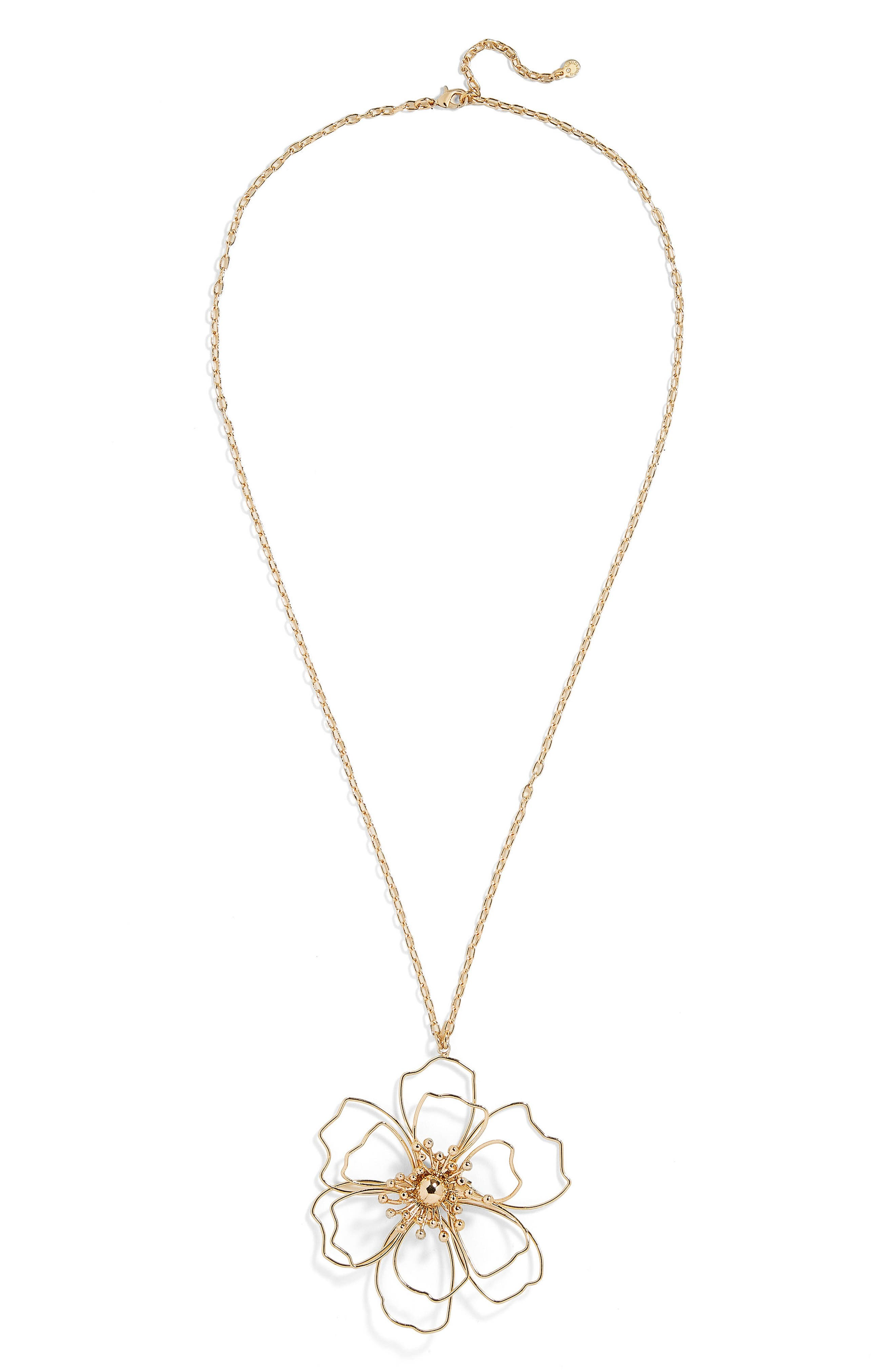 Blossom Pendant Necklace,                             Main thumbnail 1, color,                             Gold