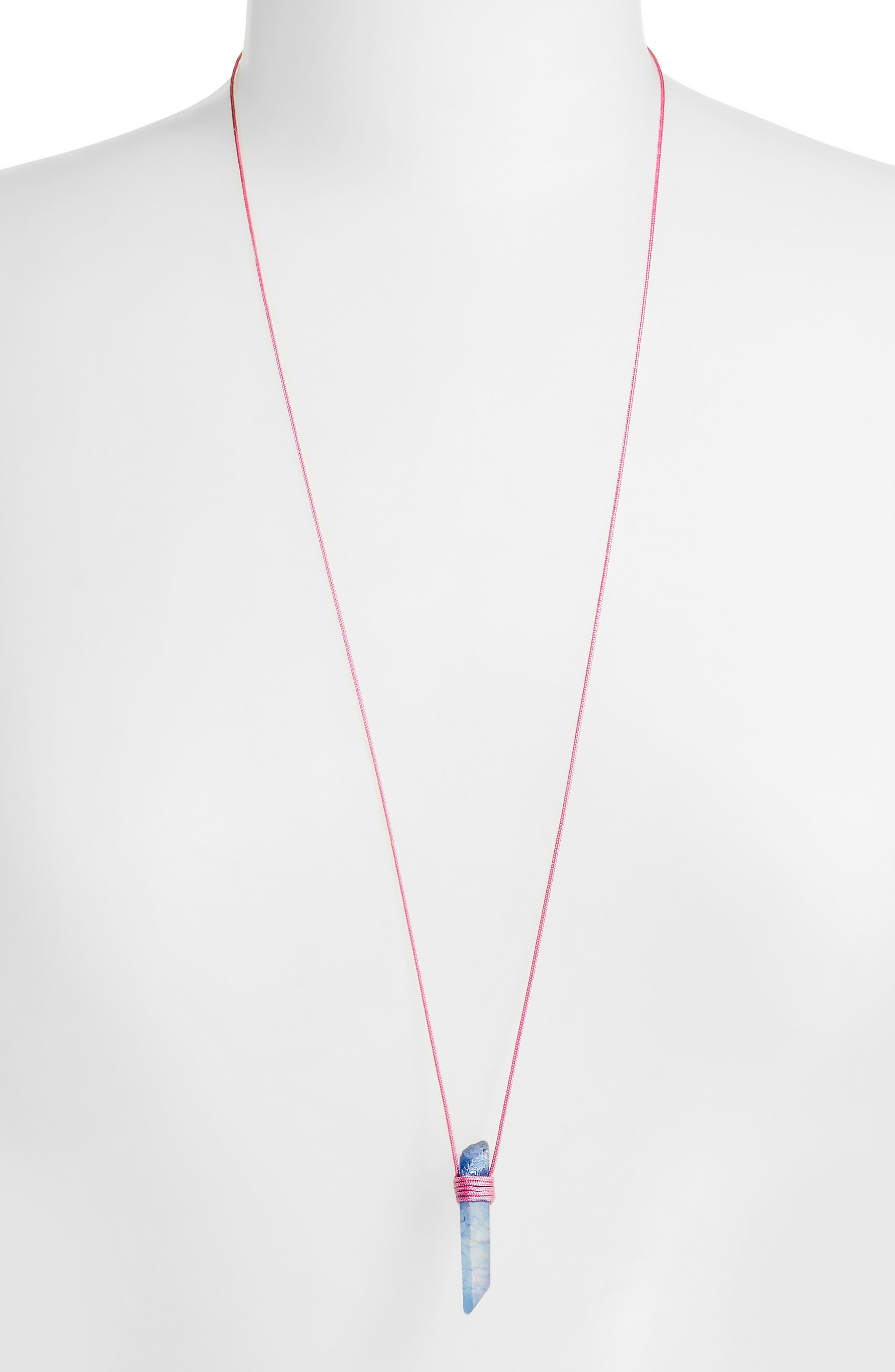 Alternate Image 2  - Tina Lilienthal Blue-Grey Quartz Pendant Necklace