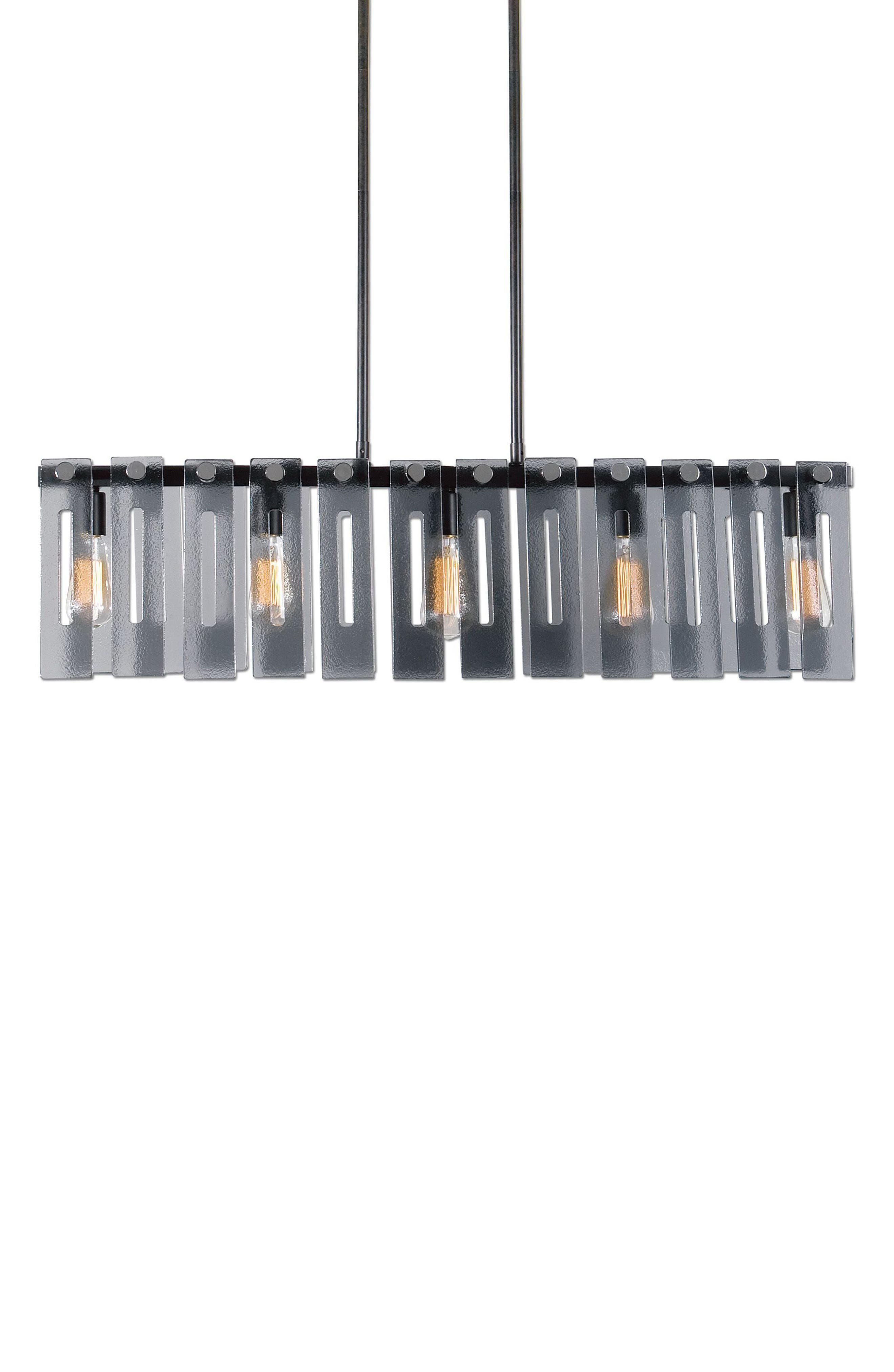 Everly Ceiling Light Fixture,                             Main thumbnail 1, color,                             Brown