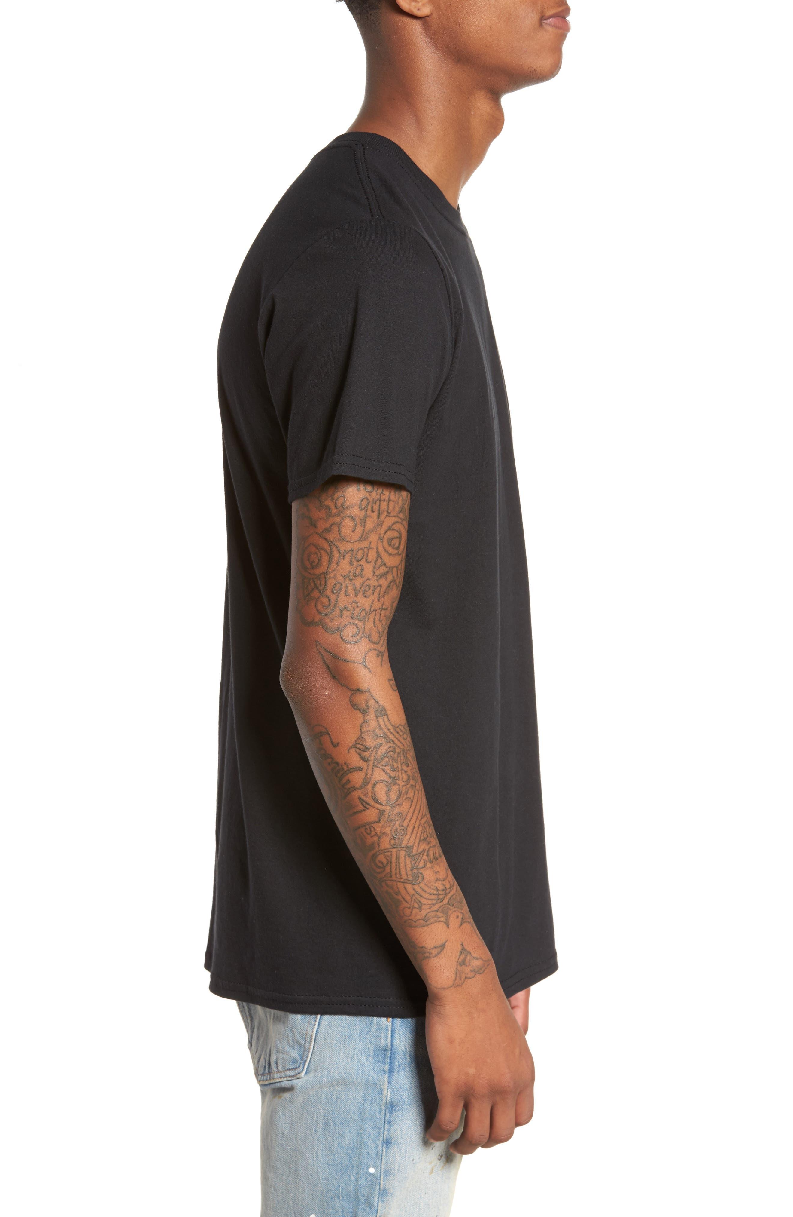 Tis The Season Embroidered T-Shirt,                             Alternate thumbnail 3, color,                             Black Tis The Season