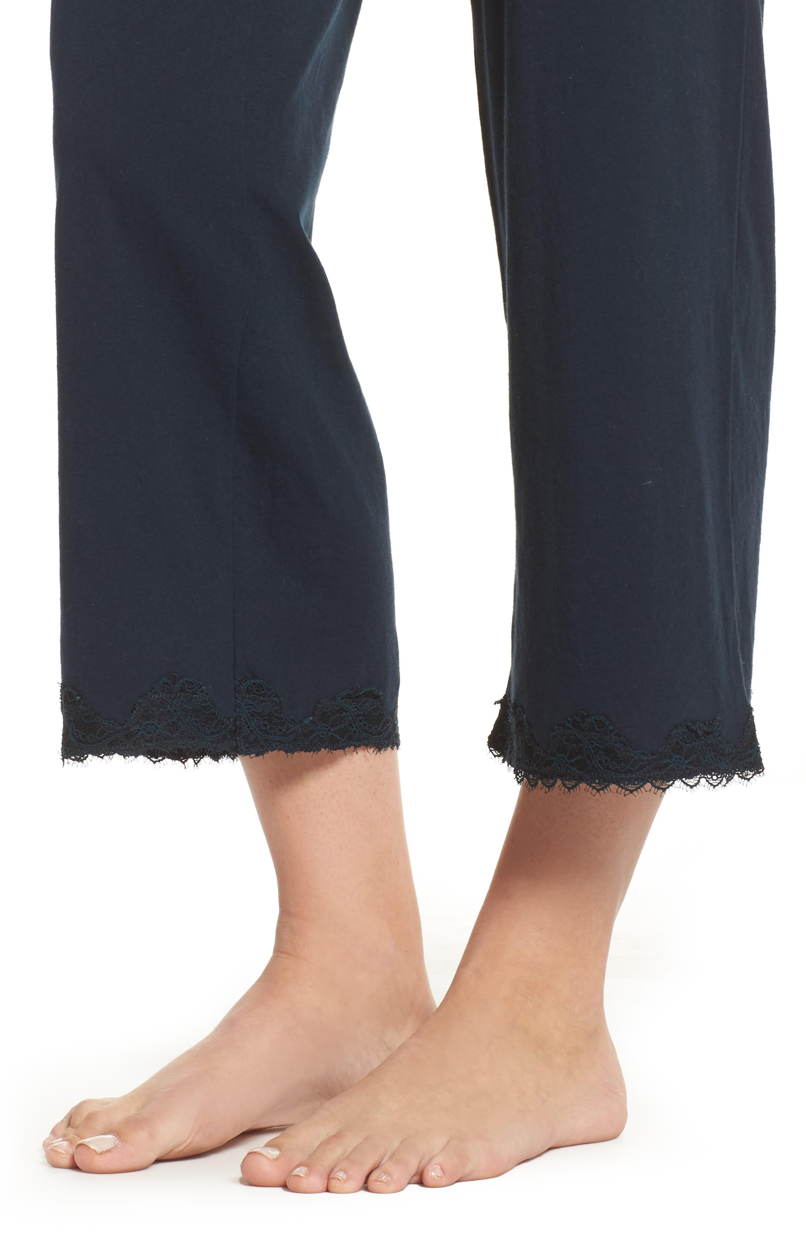 Alternate Image 6  - skin Que Crop Organic Cotton Lounge Pants