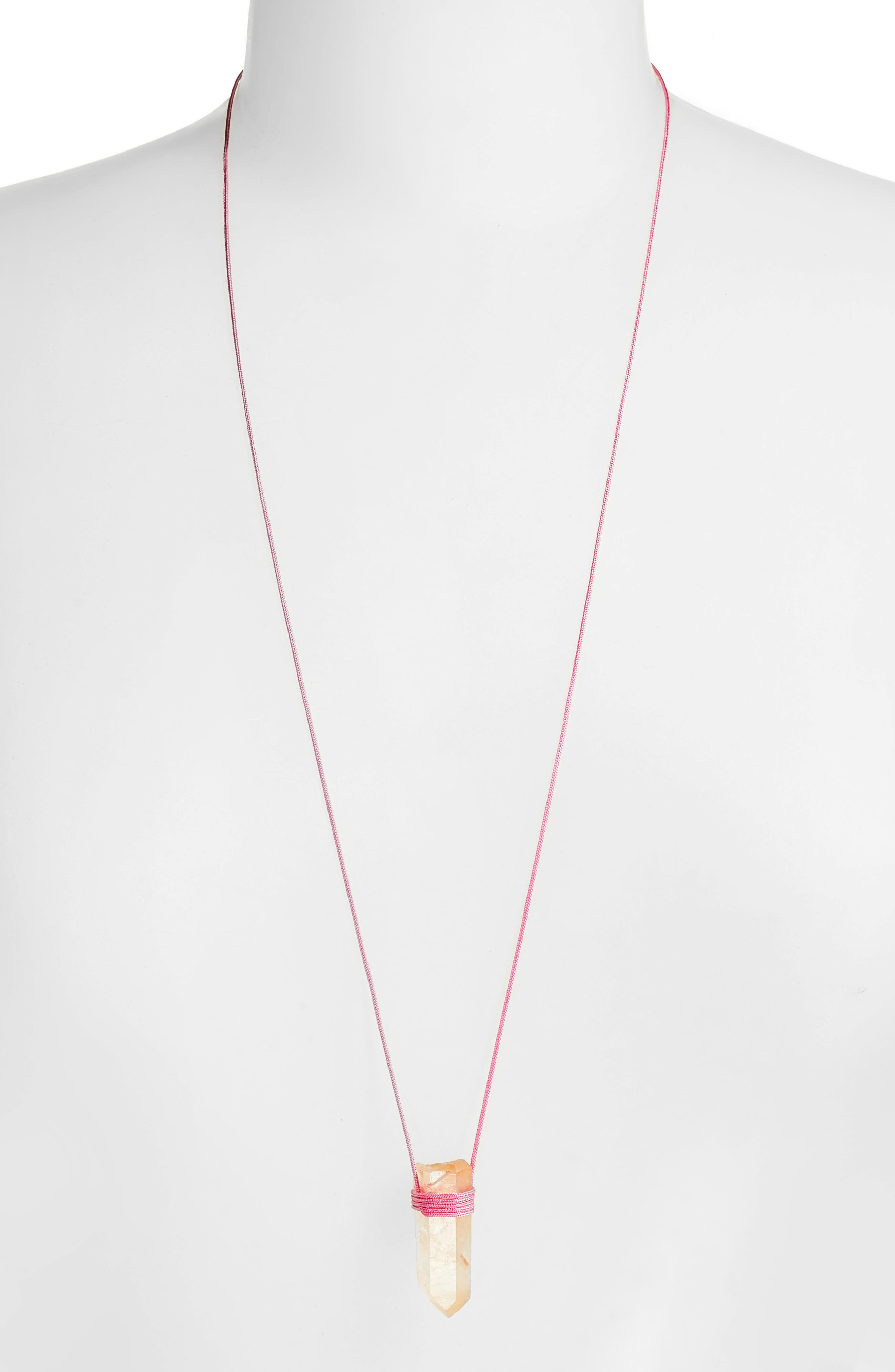 Alternate Image 2  - Tina Lilienthal Peach Quartz Pendant Necklace