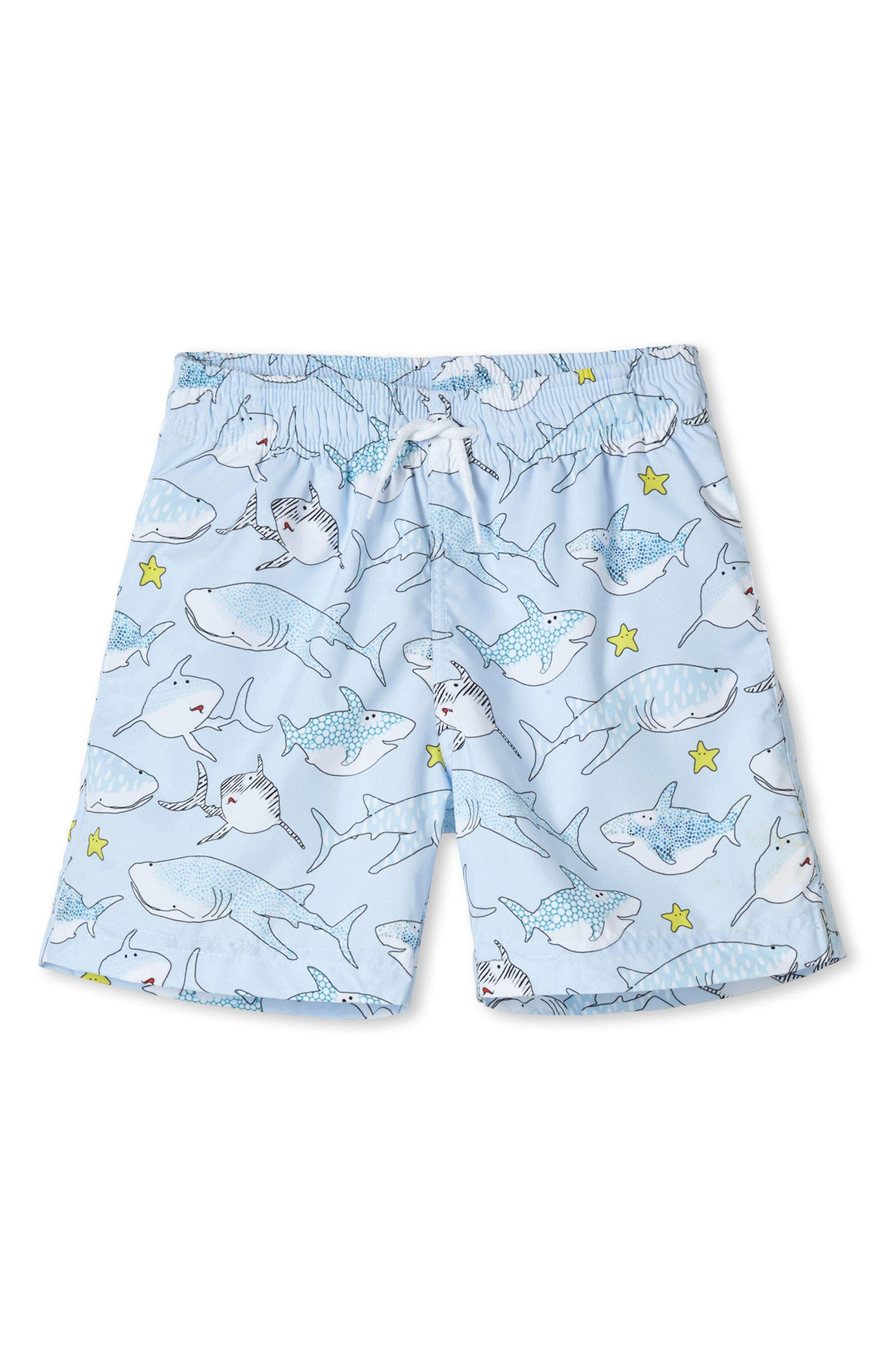 Stella Cove Blue Shark Swim Trunks (Toddler Boys & Little Boys)