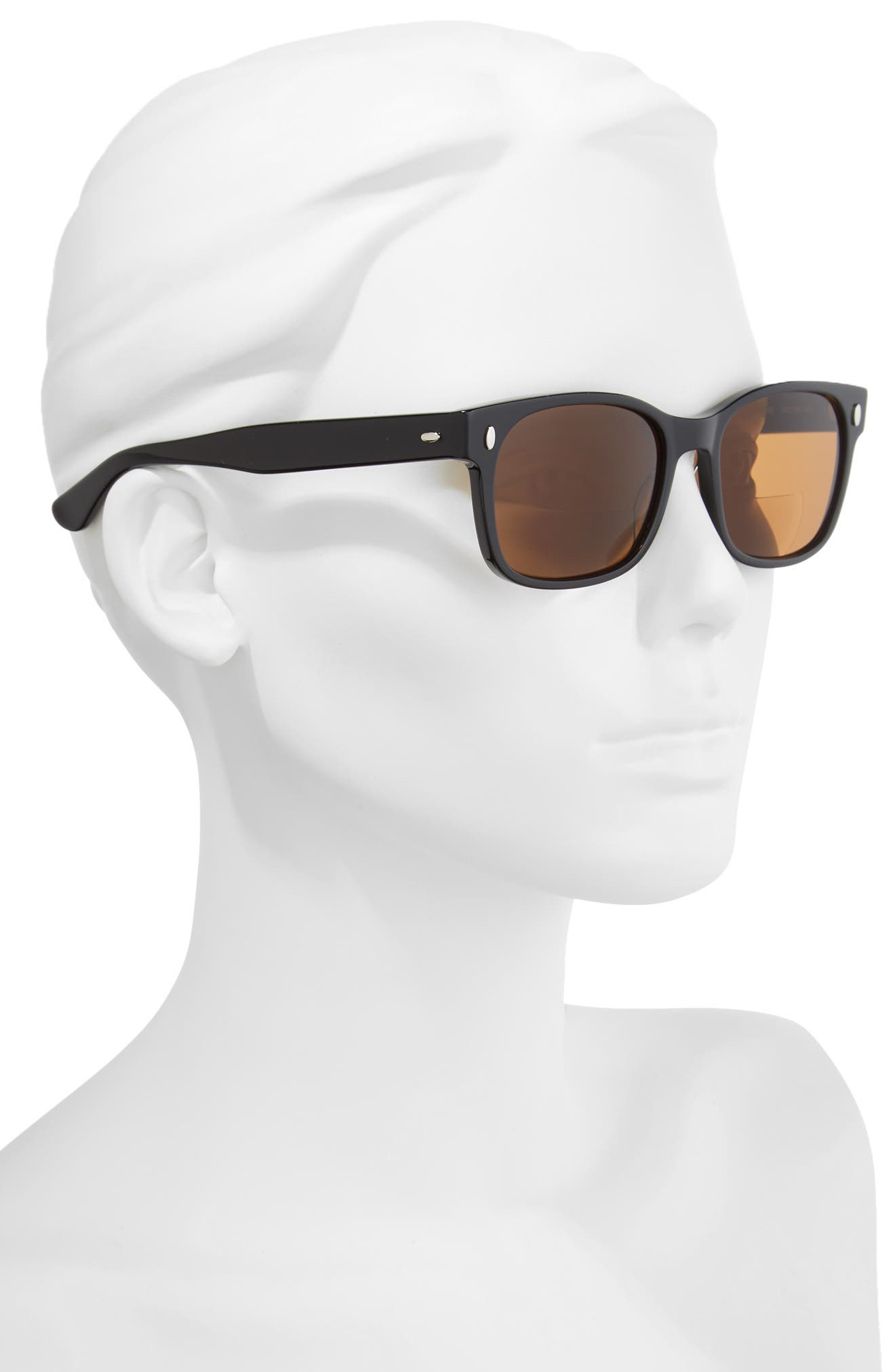 Whitney 52mm Reading Sunglasses,                             Alternate thumbnail 2, color,                             Black