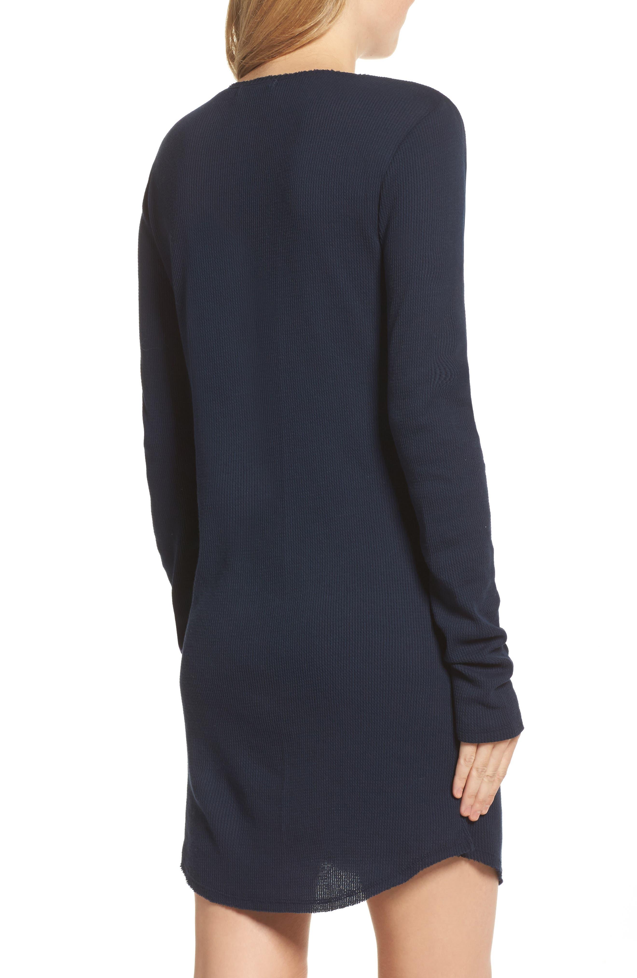 Wynn Henley Sleep Shirt,                             Alternate thumbnail 2, color,                             Bright Navy