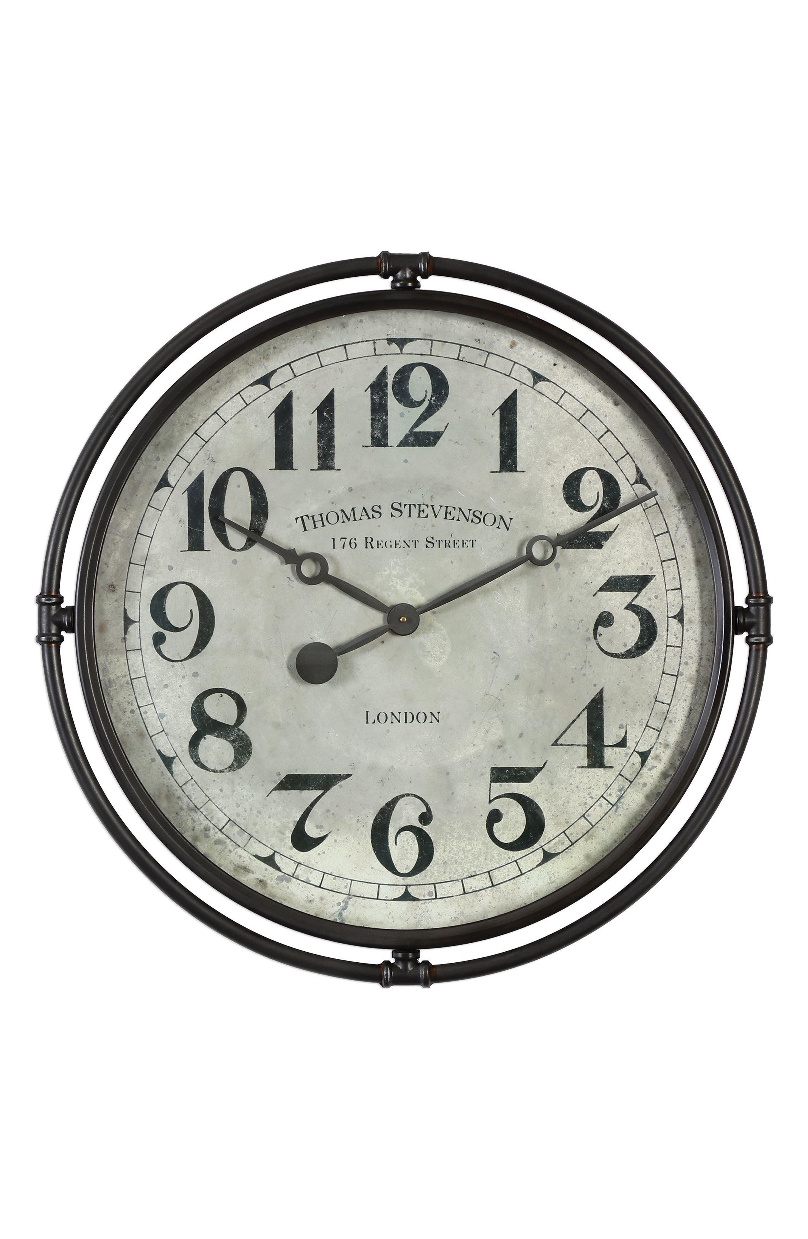 Nakul Wall Clock,                         Main,                         color, Grey