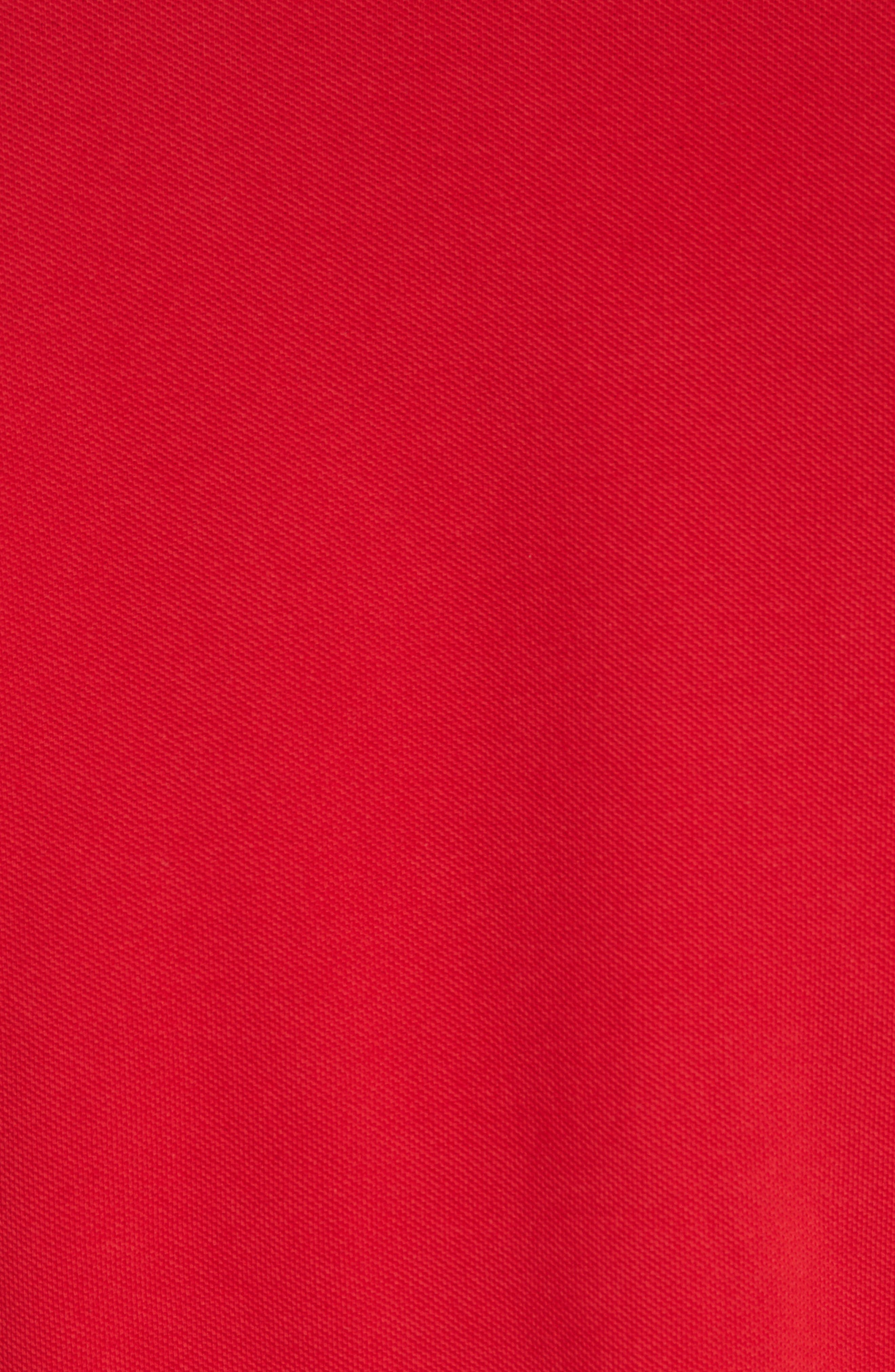Tipped Piqué Polo,                             Alternate thumbnail 5, color,                             Red