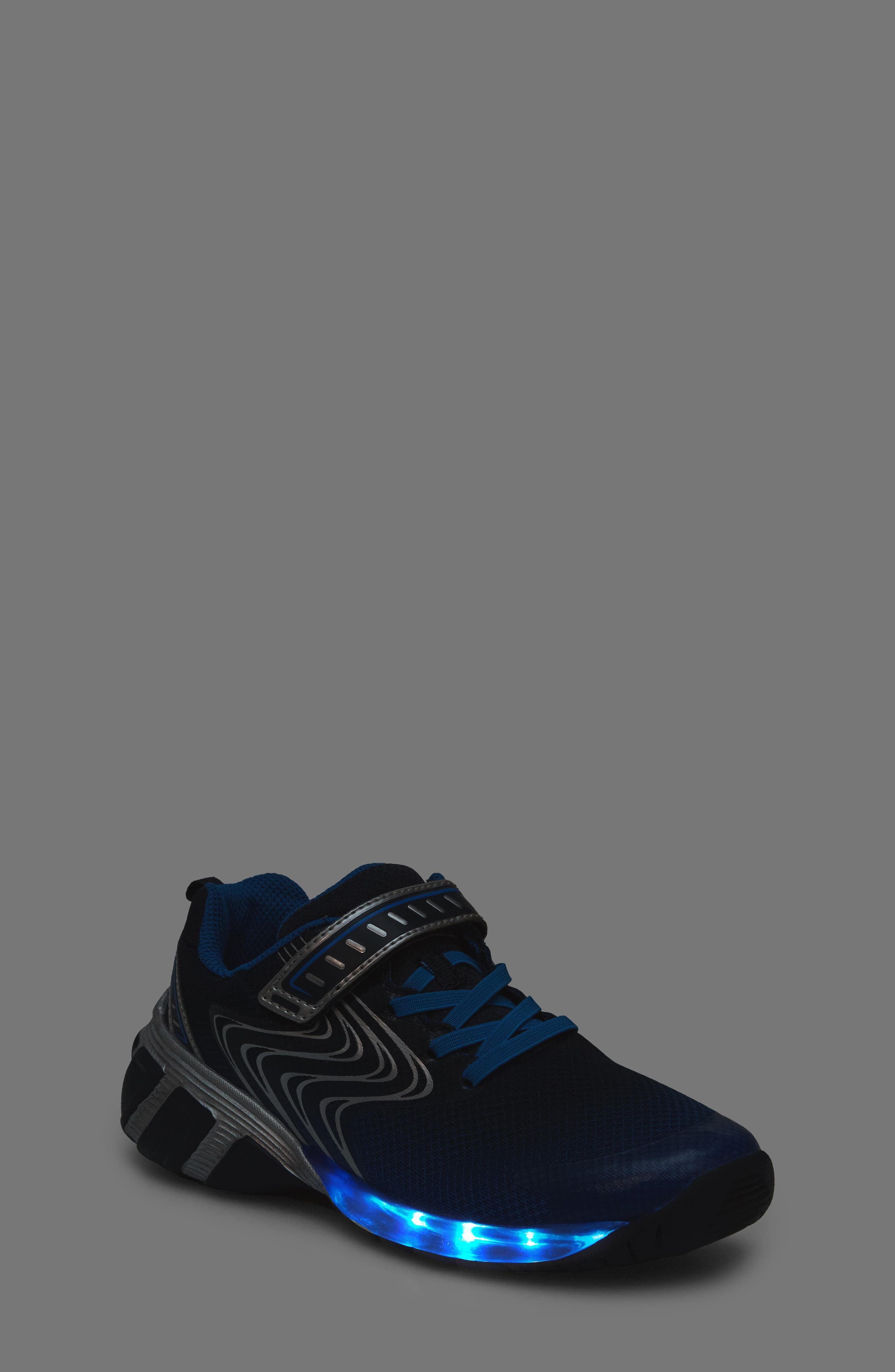 Lights Lux Light-Up Sneaker,                             Alternate thumbnail 2, color,                             Royal Blue Synthetic/ Textile