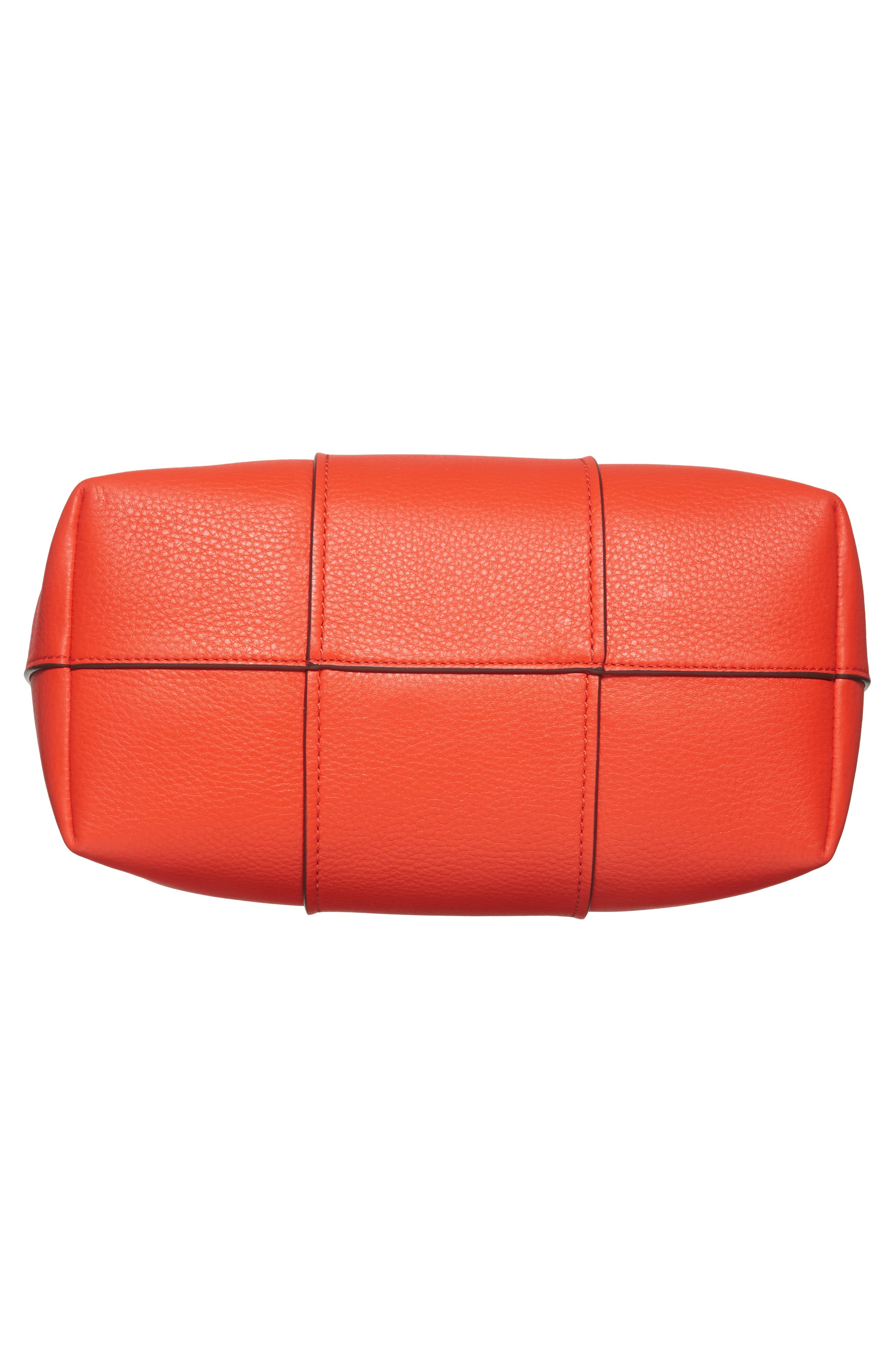 Block-T Pebbled Leather Hobo,                             Alternate thumbnail 6, color,                             Spicy Orange