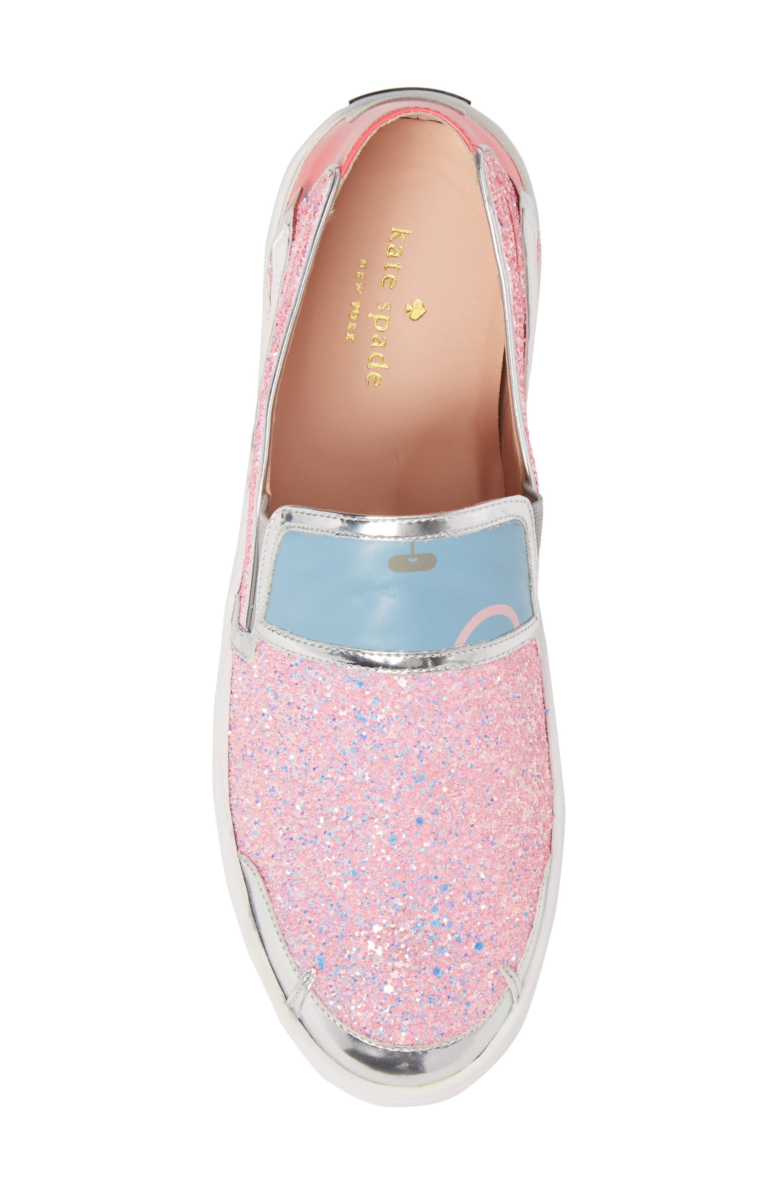 Lotus Slip-On Sneaker,                             Alternate thumbnail 5, color,                             Pink