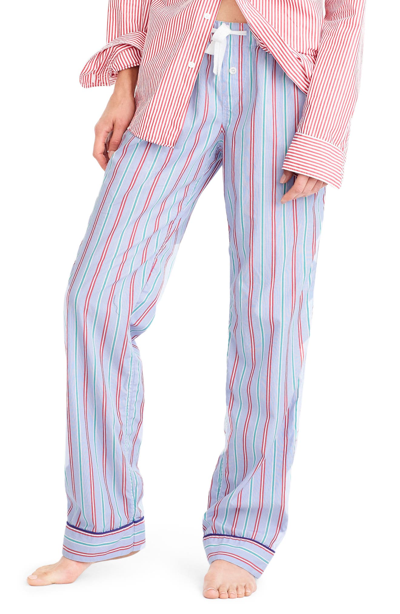 Alternate Image 1 Selected - J.Crew Candy Cane Pajama Pants