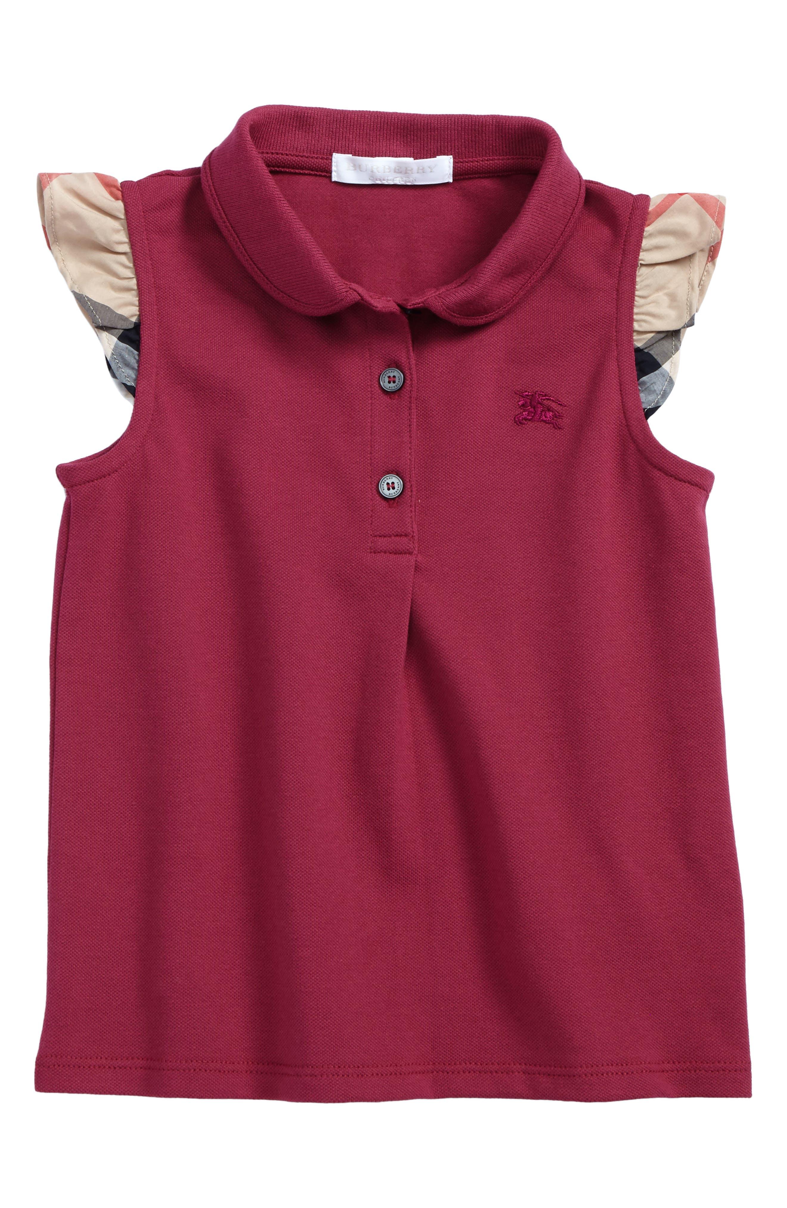 Mini Tia Polo,                         Main,                         color, Garnet Pink