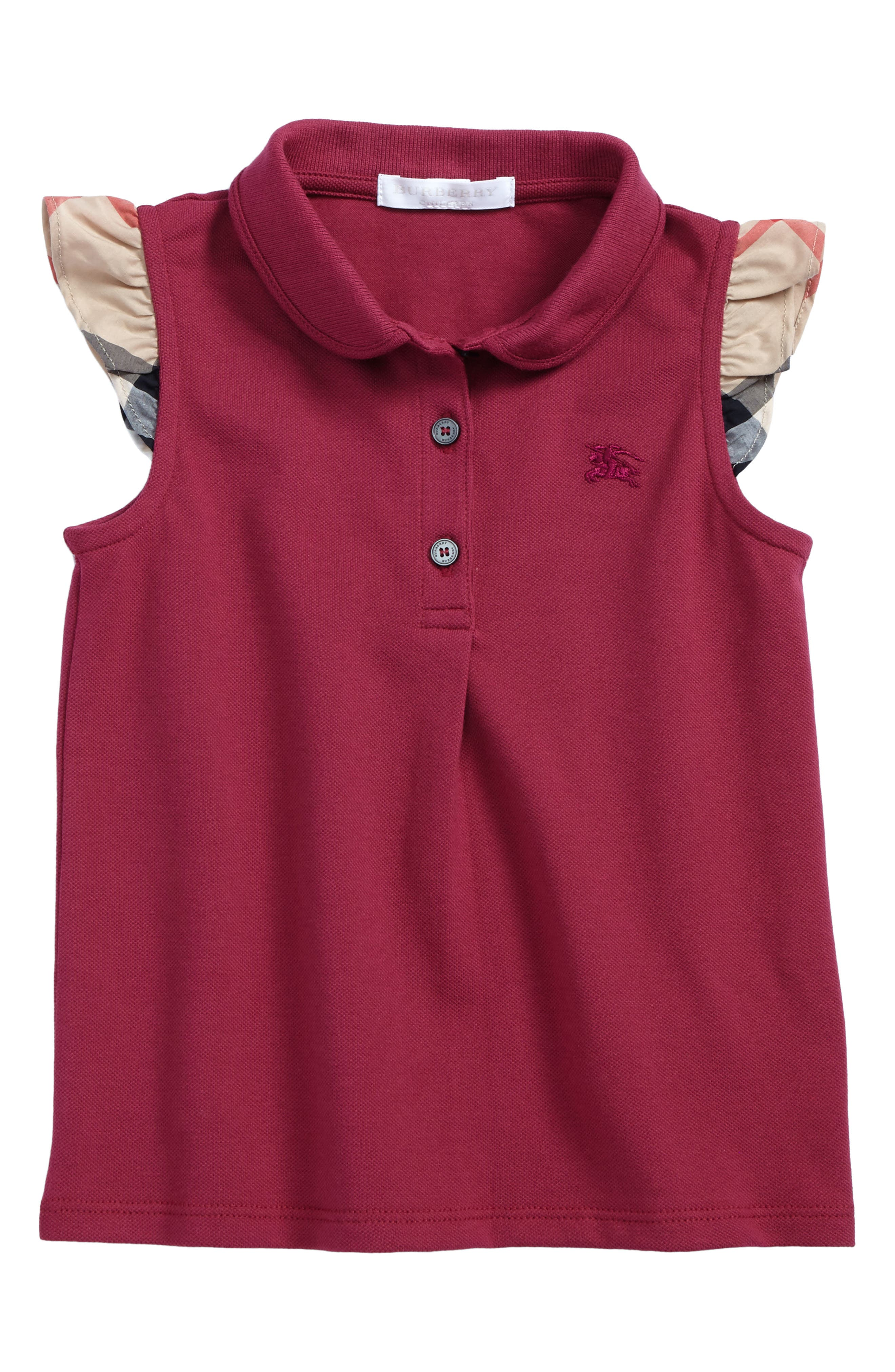 Mini Tia Polo,                         Main,                         color, Garnet Pink