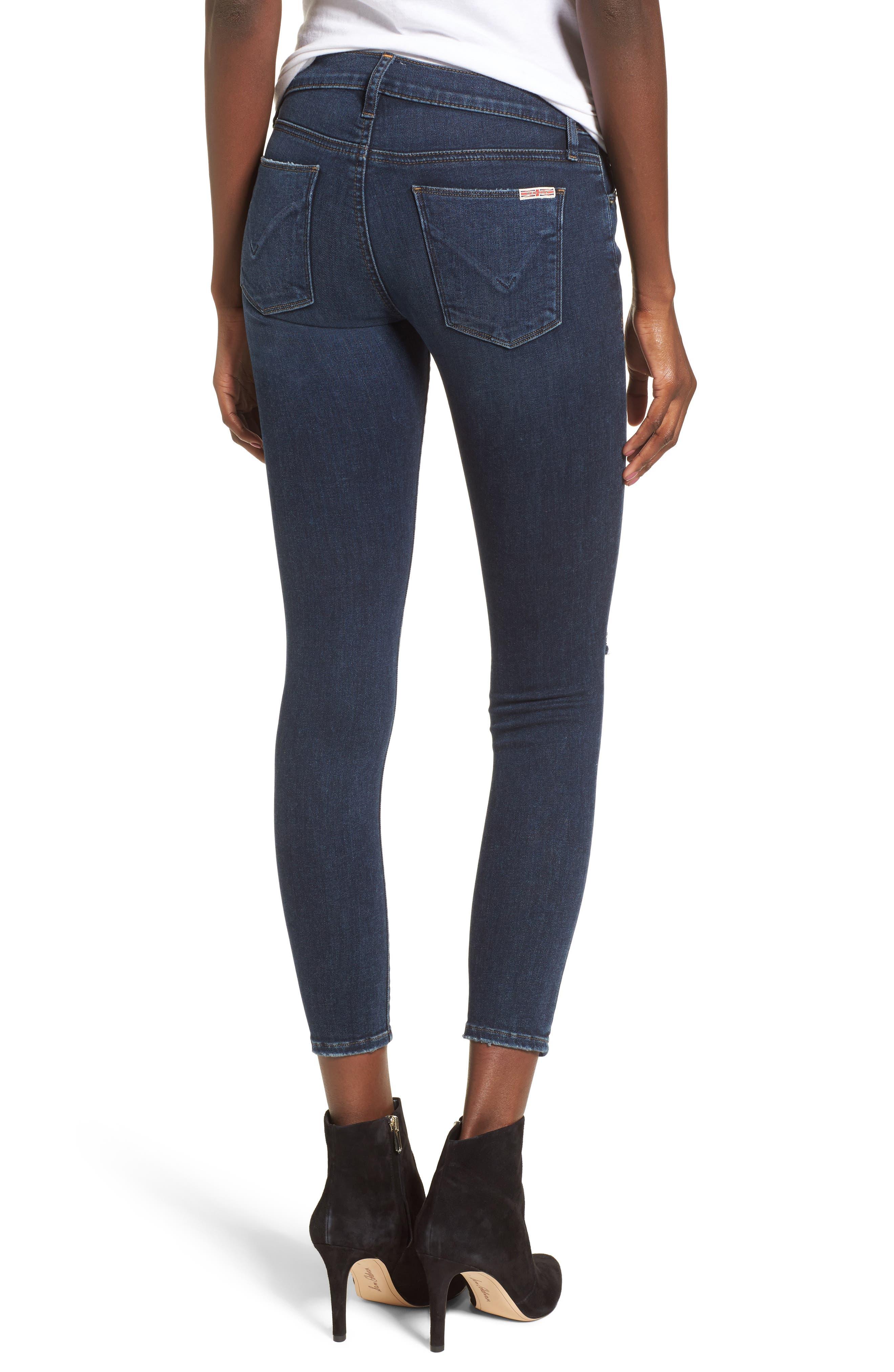 Krista Ankle Super Skinny Jeans,                             Alternate thumbnail 2, color,                             Pillow Talk