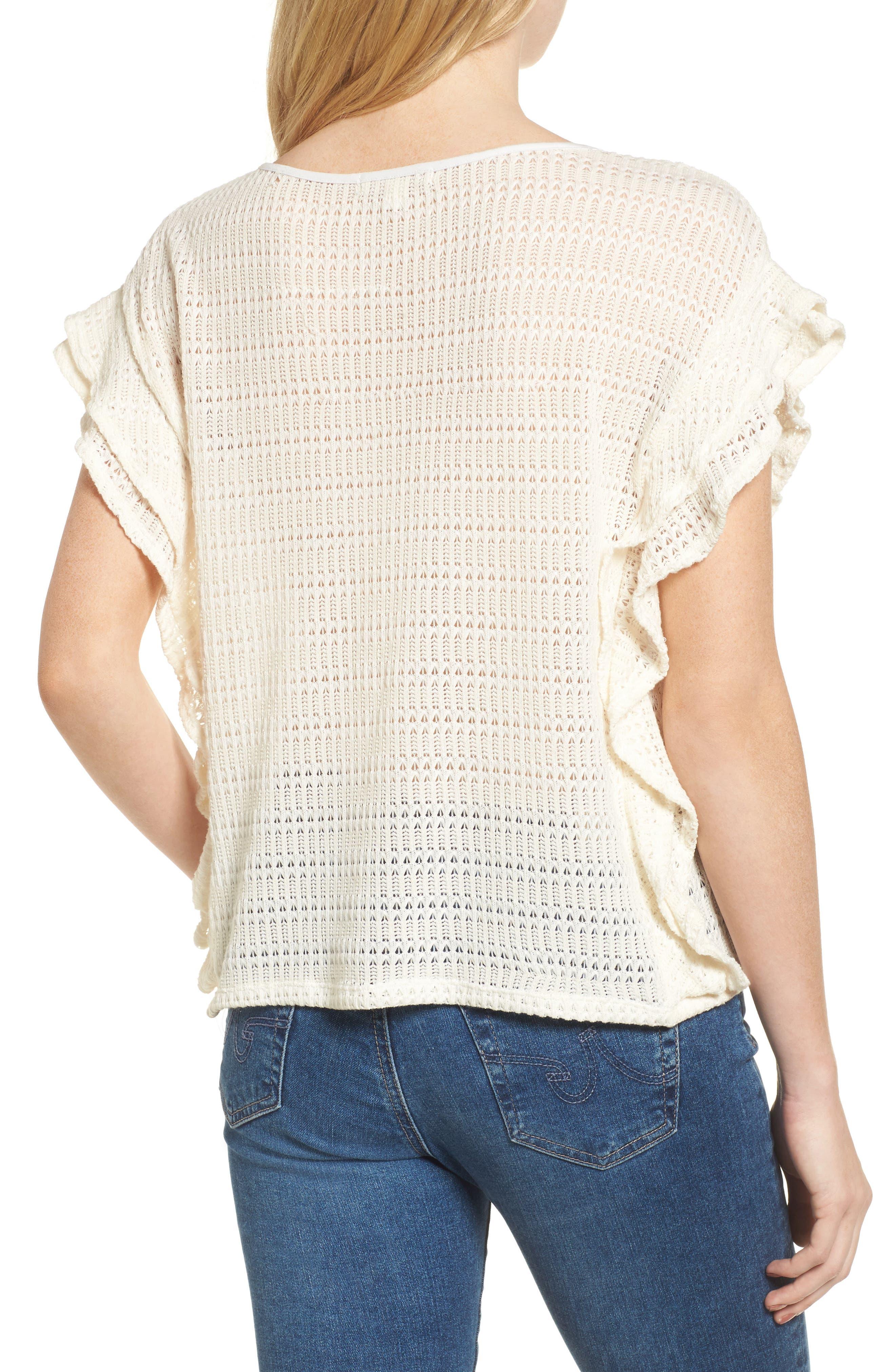 Alternate Image 2  - Ella Moss Crochet Pullover Top