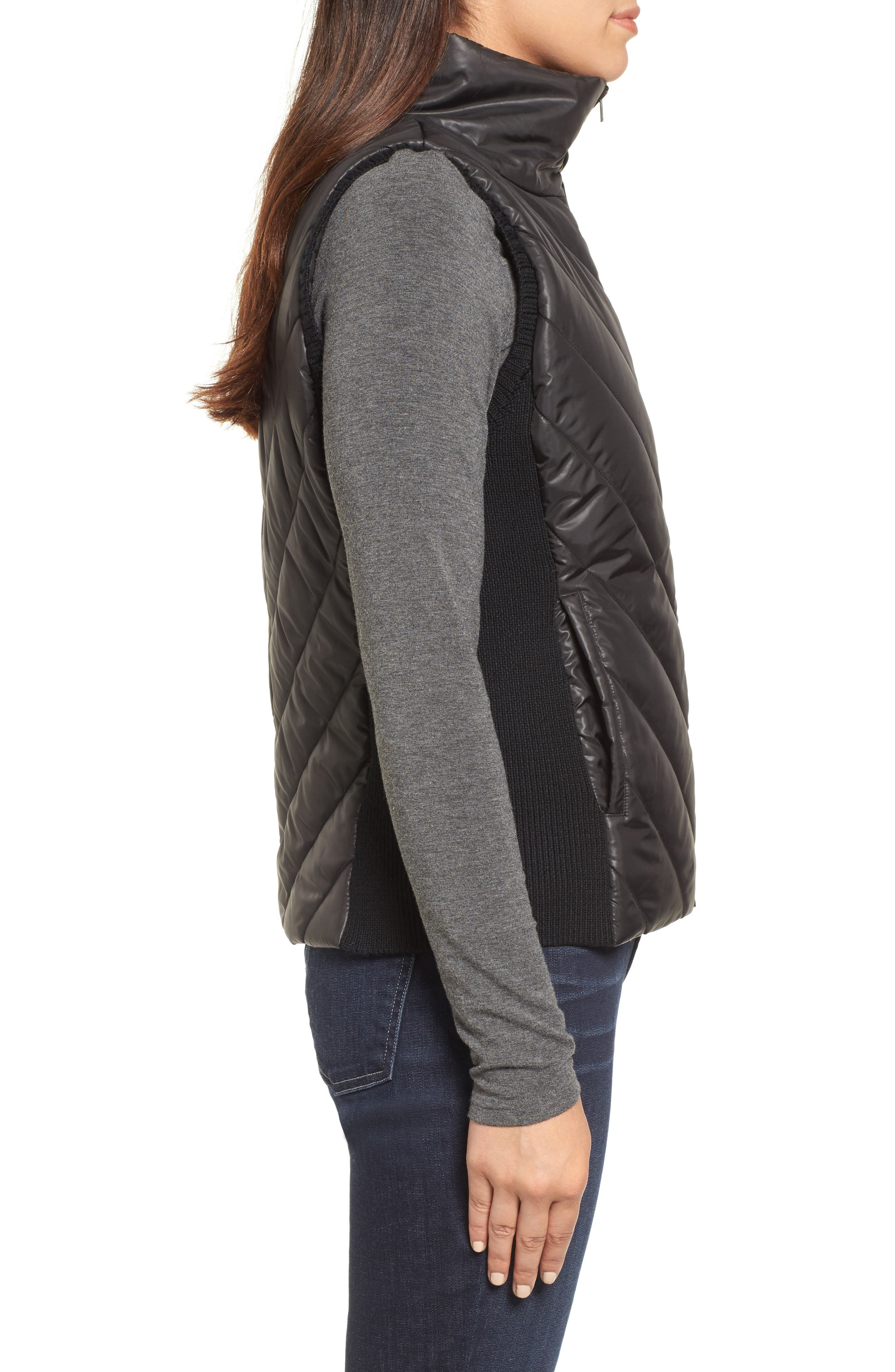 Alternate Image 3  - Eileen Fisher Merino Wool Trim Puffer Vest (Regular & Petite)