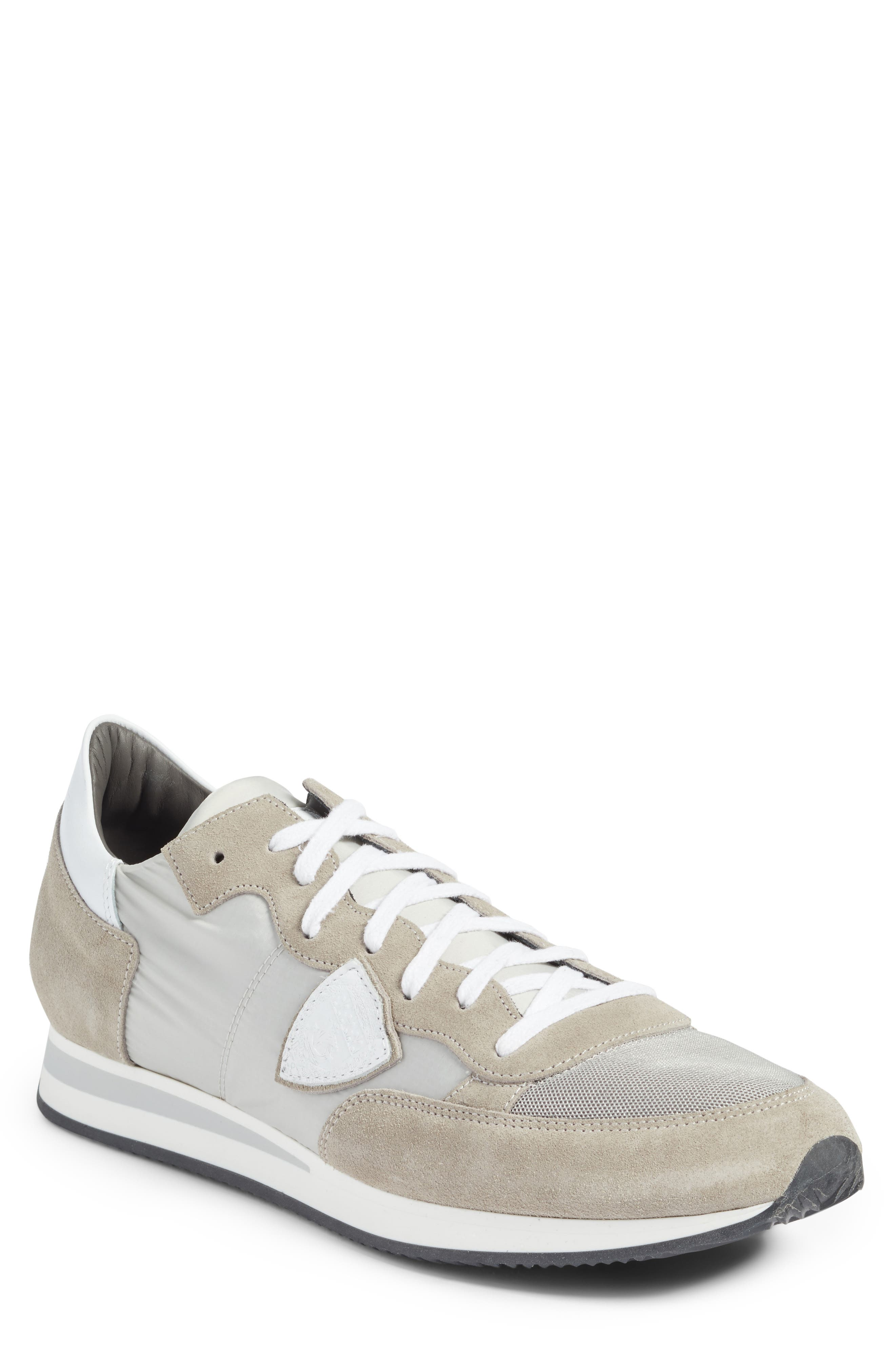 Tropez Low Top Sneaker,                             Main thumbnail 1, color,                             Grey/ White