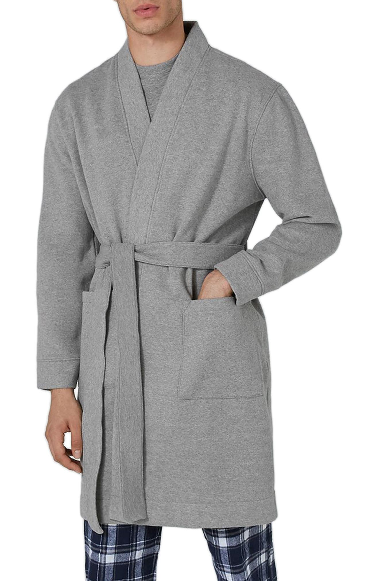 Jersey Robe,                             Main thumbnail 1, color,                             Grey